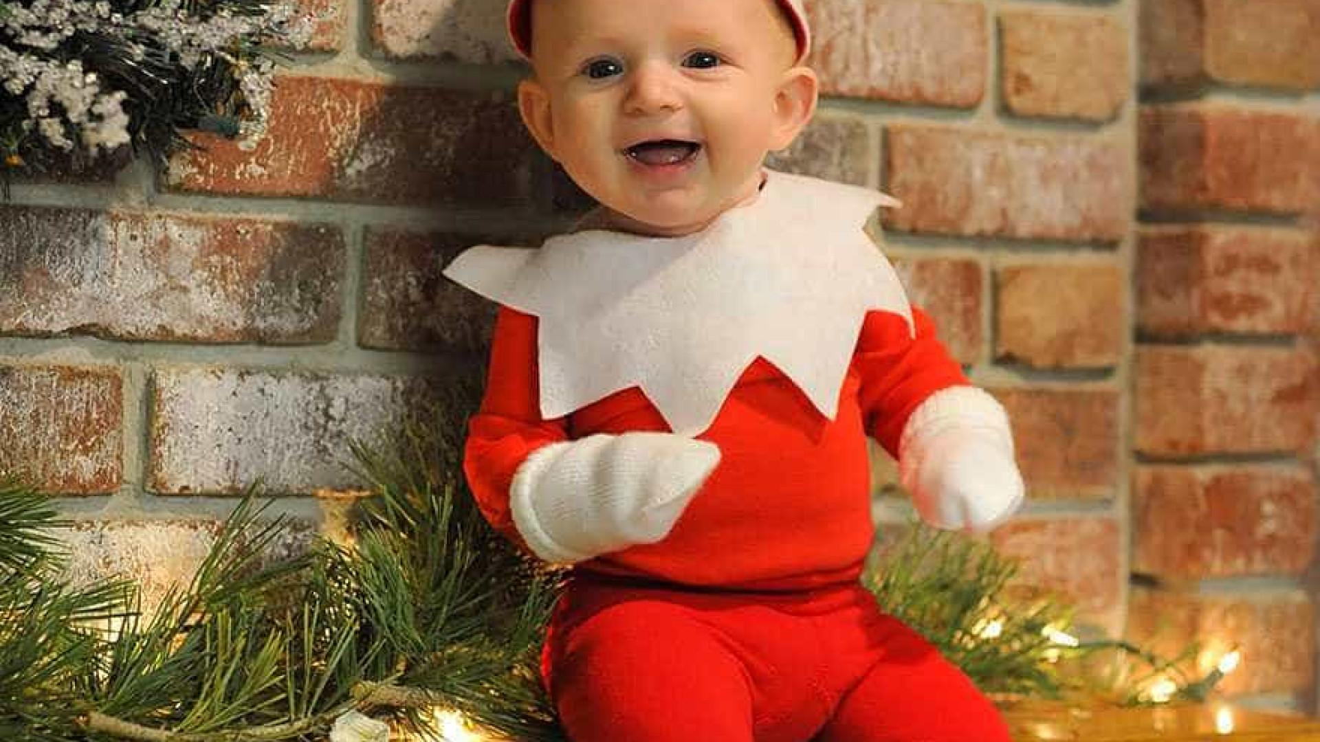 Pai transforma filho de quatro anos em 'elfo de Natal'