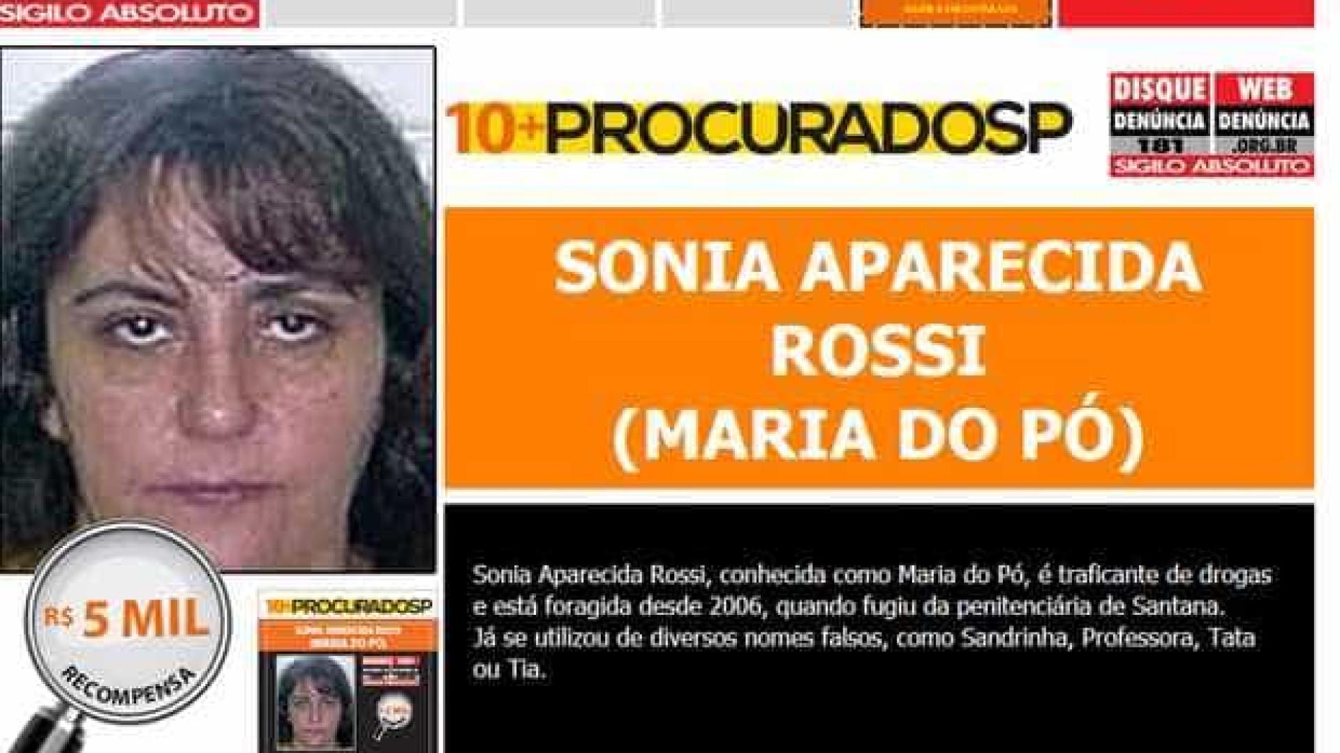 Mais procurada de SP, Maria do Pó está foragida há 10 anos