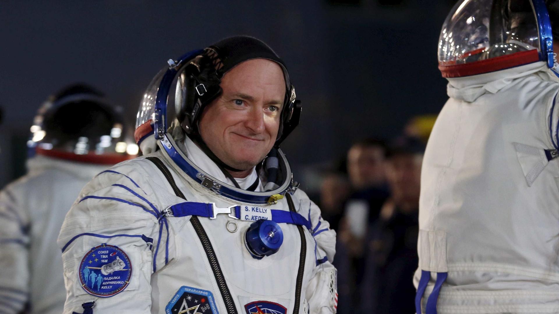 Astronauta que passou um ano no espaço ganhou 5 cm de altura