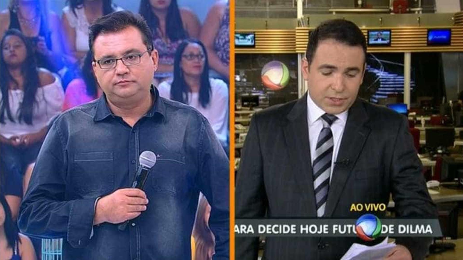 Geraldo Luis critica Record ao vivo no 'Domingo Show'