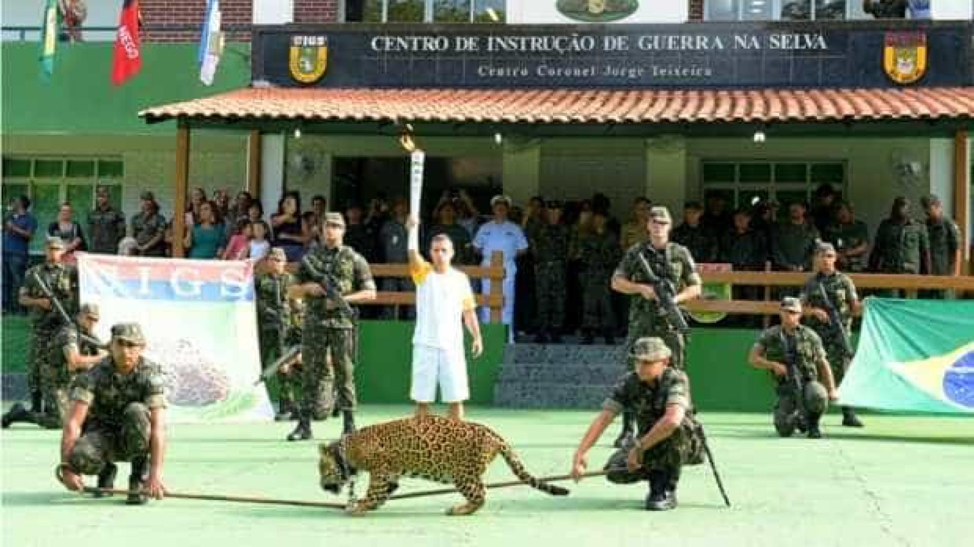 Onça é abatida após cerimônia  com tocha olímpica em Manaus