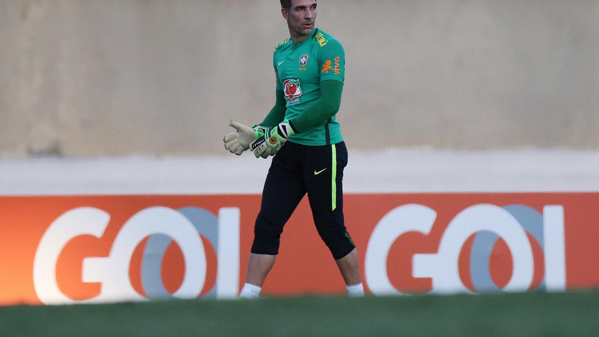 Fernando Prass está fora do amistoso contra o  Japão em Goiânia