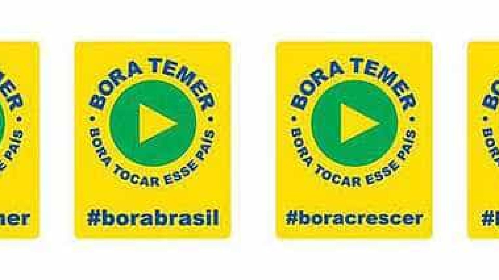 Contra 'Fora, Temer', marqueteiro do governo cria slogan 'Bora, Temer'