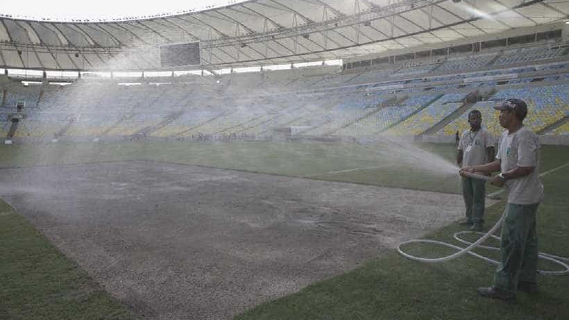 Com gramado quase pronto, Maracanã receberá Flamengo e Corinthians