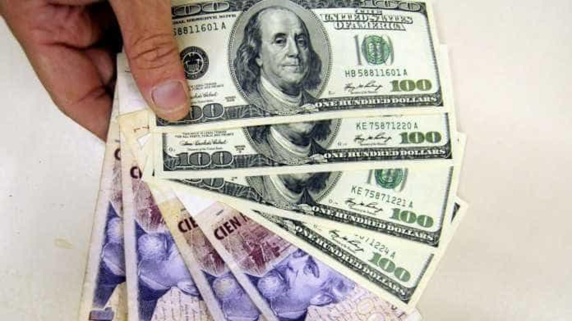 Argentina registra alta das reservas em moeda estrangeira