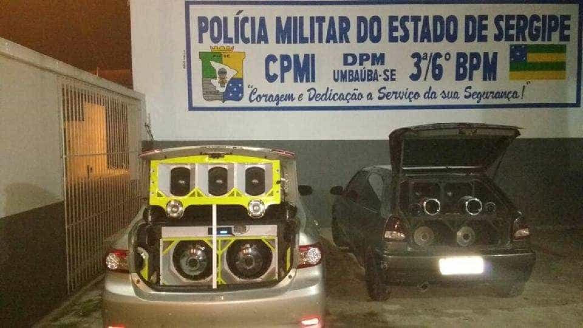 PM apreende três carros com som alto em Sergipe