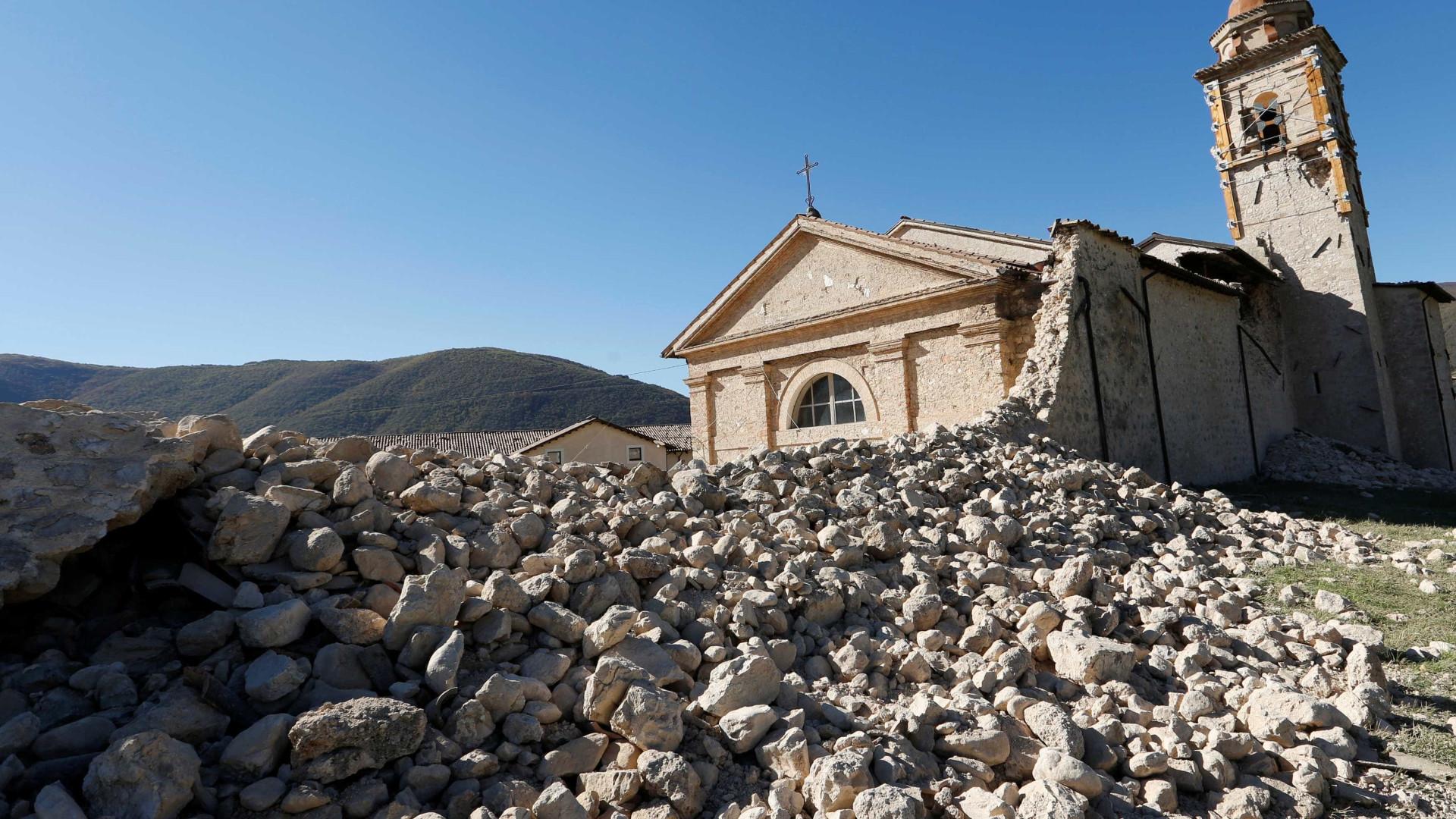 Terremoto na Itália pode ter afundado  solo em mais de 25 cm