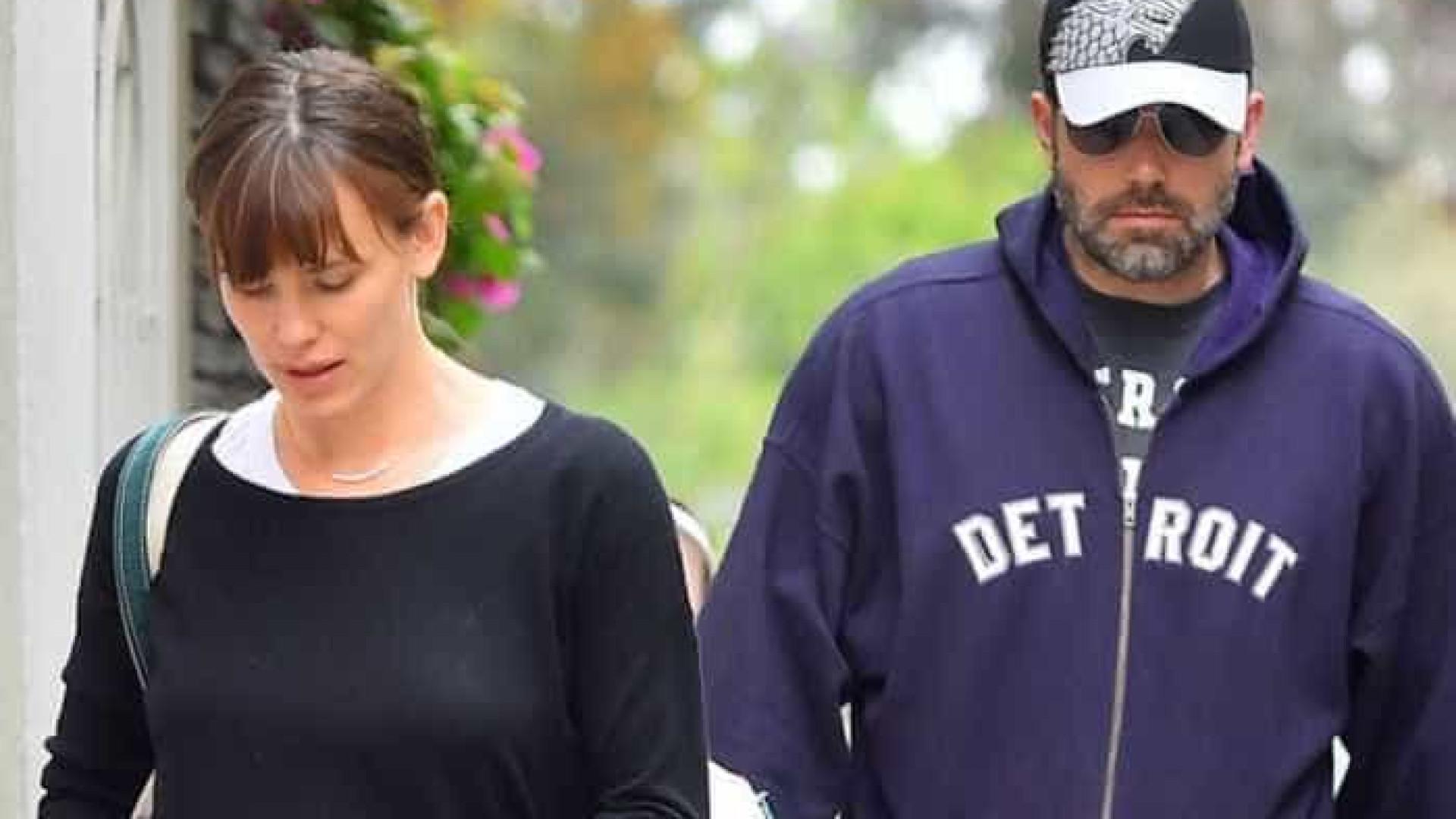 Jennifer Garner cancelou divórcio com  Ben Affleck por estar grávida