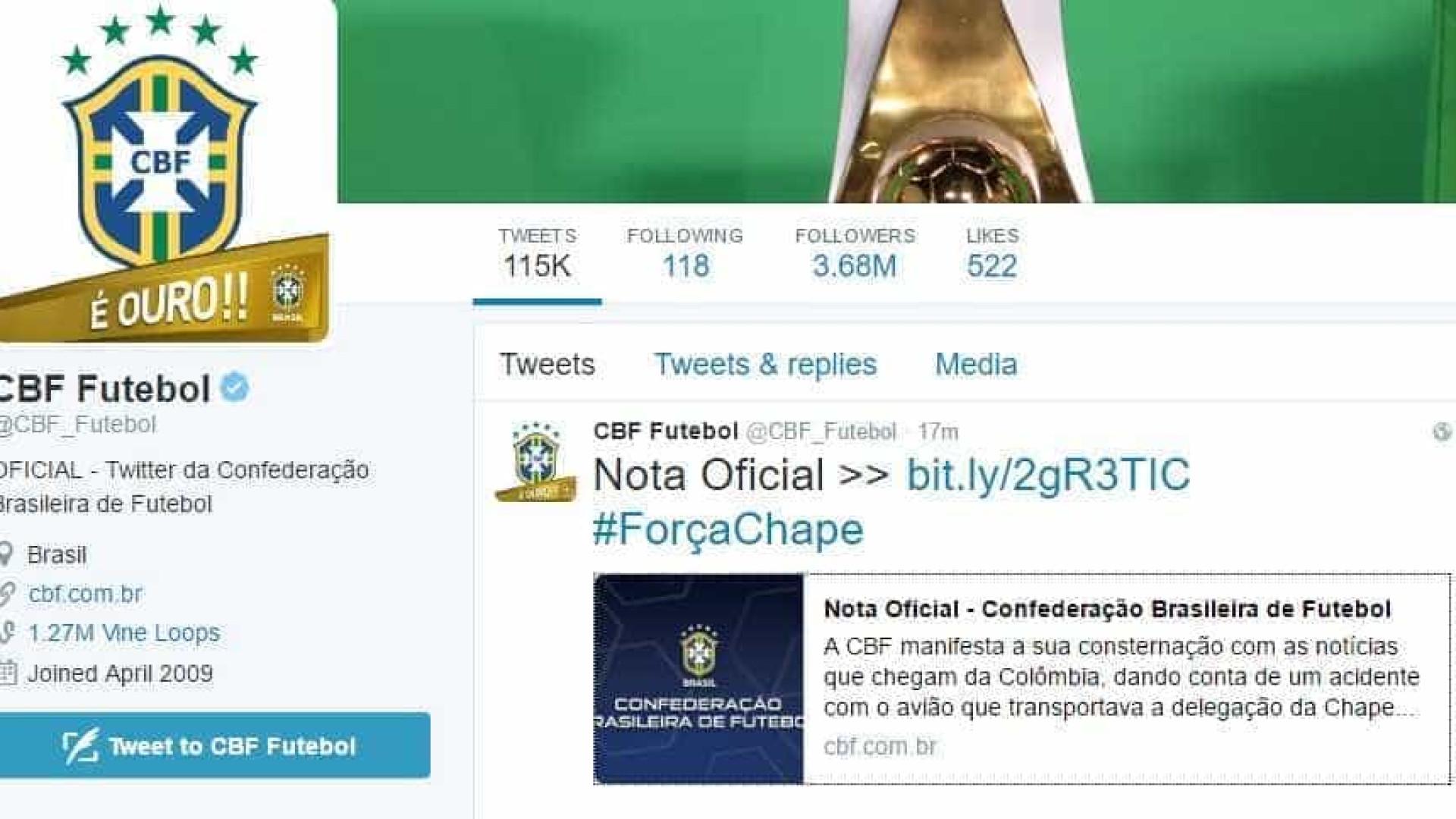 Clubes se solidarizam após tragédia com equipe da Chapecoense