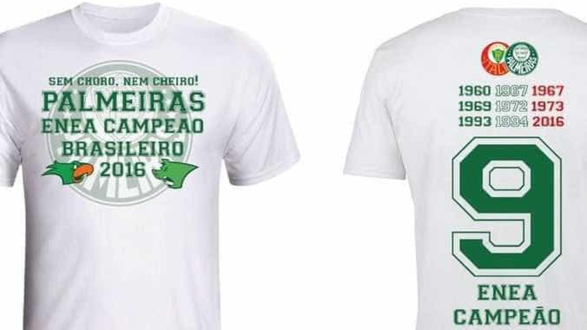Palmeiras alfineta Flamengo em camisa comemorativa ao título