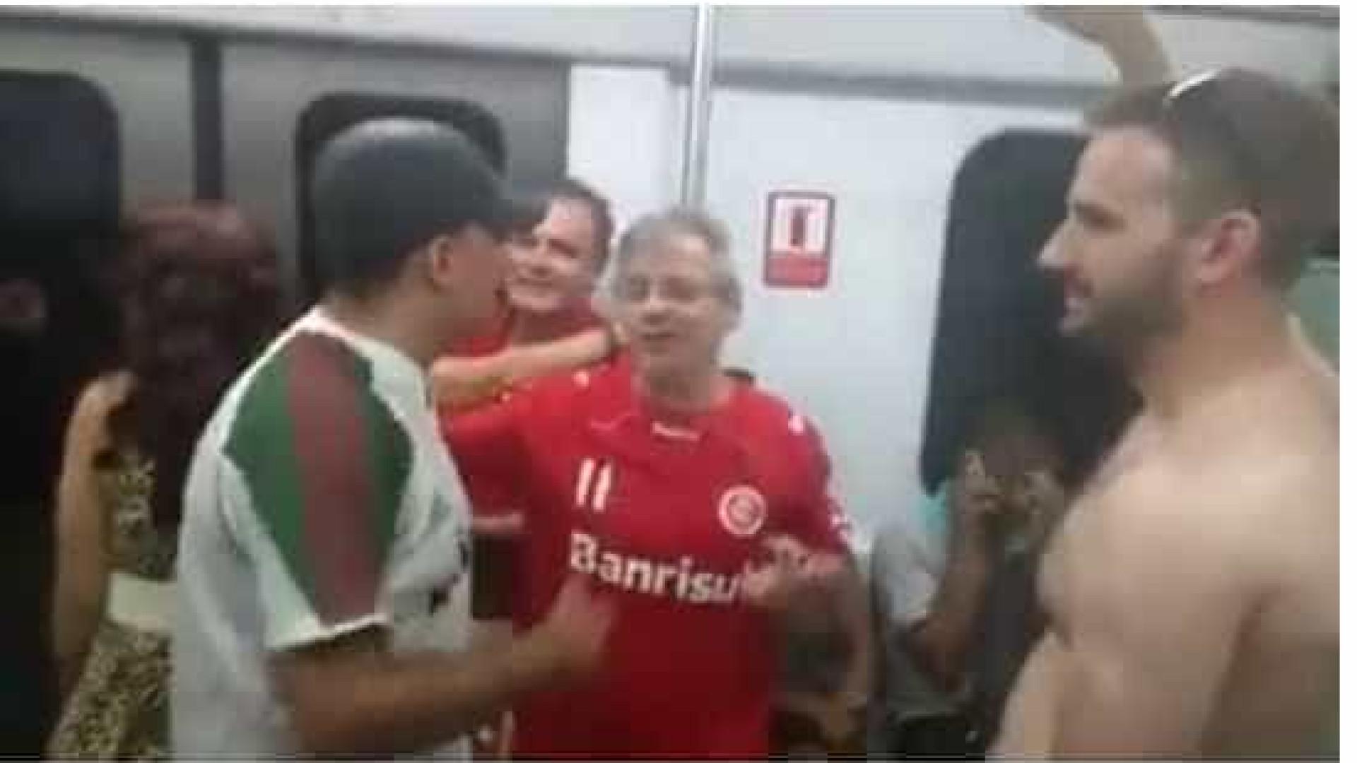Tricolores que hostilizaram torcedores do Inter podem pegar 3 anos