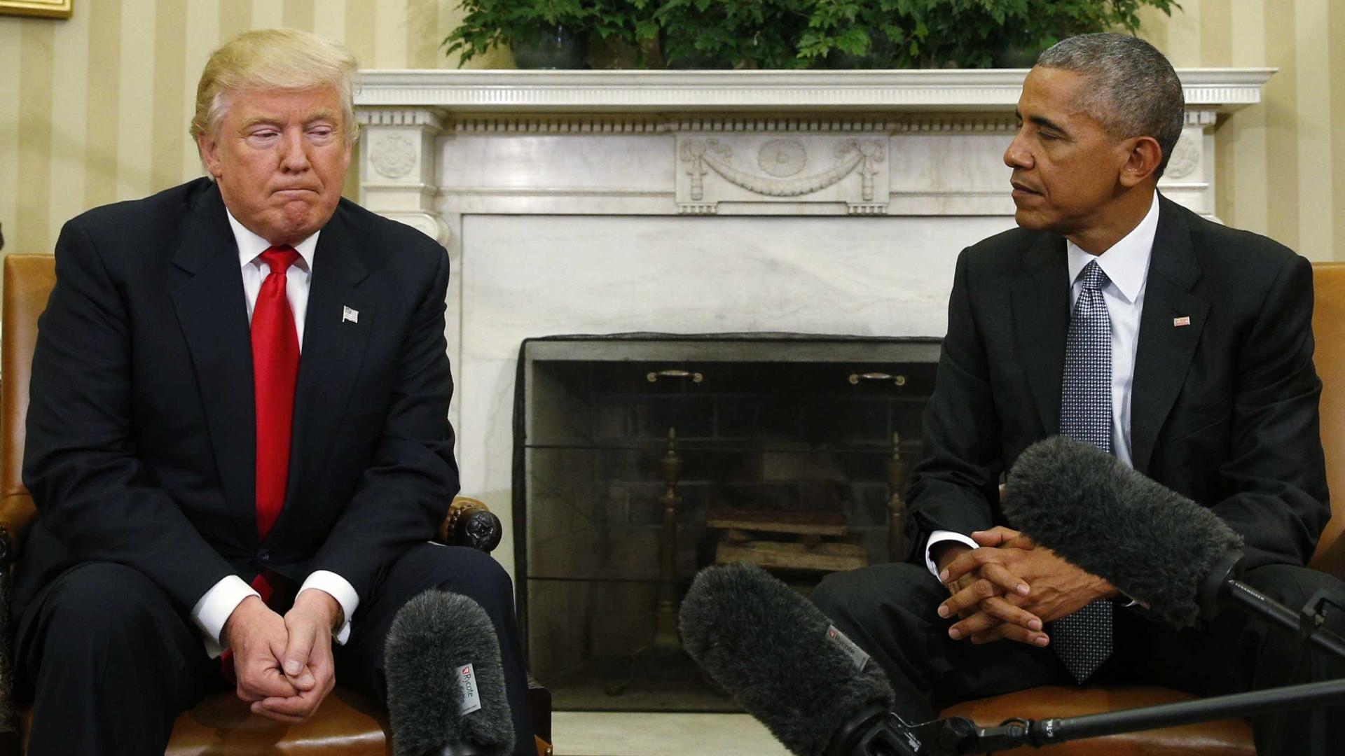 Obama intercede a favor de Trump: 'Deem-lhe tempo'