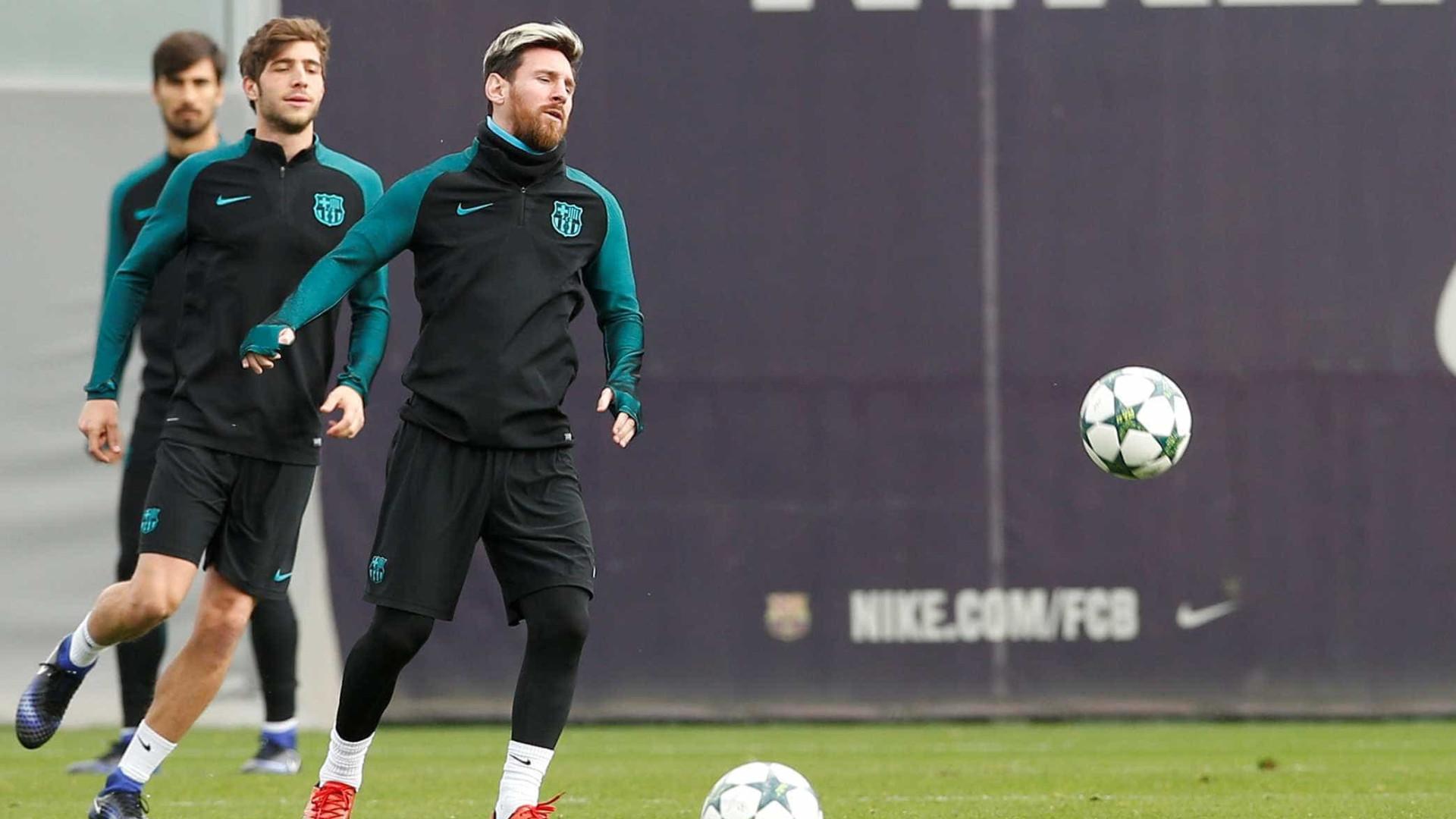 Barça libera vídeo com golaços de Messi nos treinamentos; veja