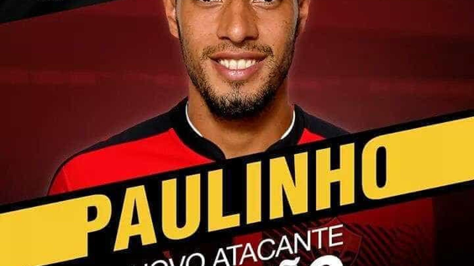Vitória oficializa contratação de Paulinho, do Flamengo