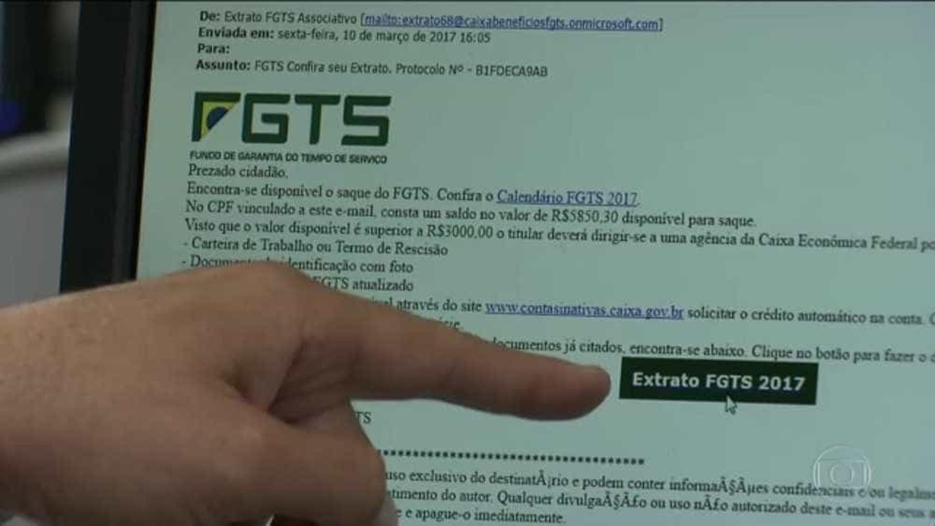 Novo golpe pode consultar movimentação de contas inativas do FGTS