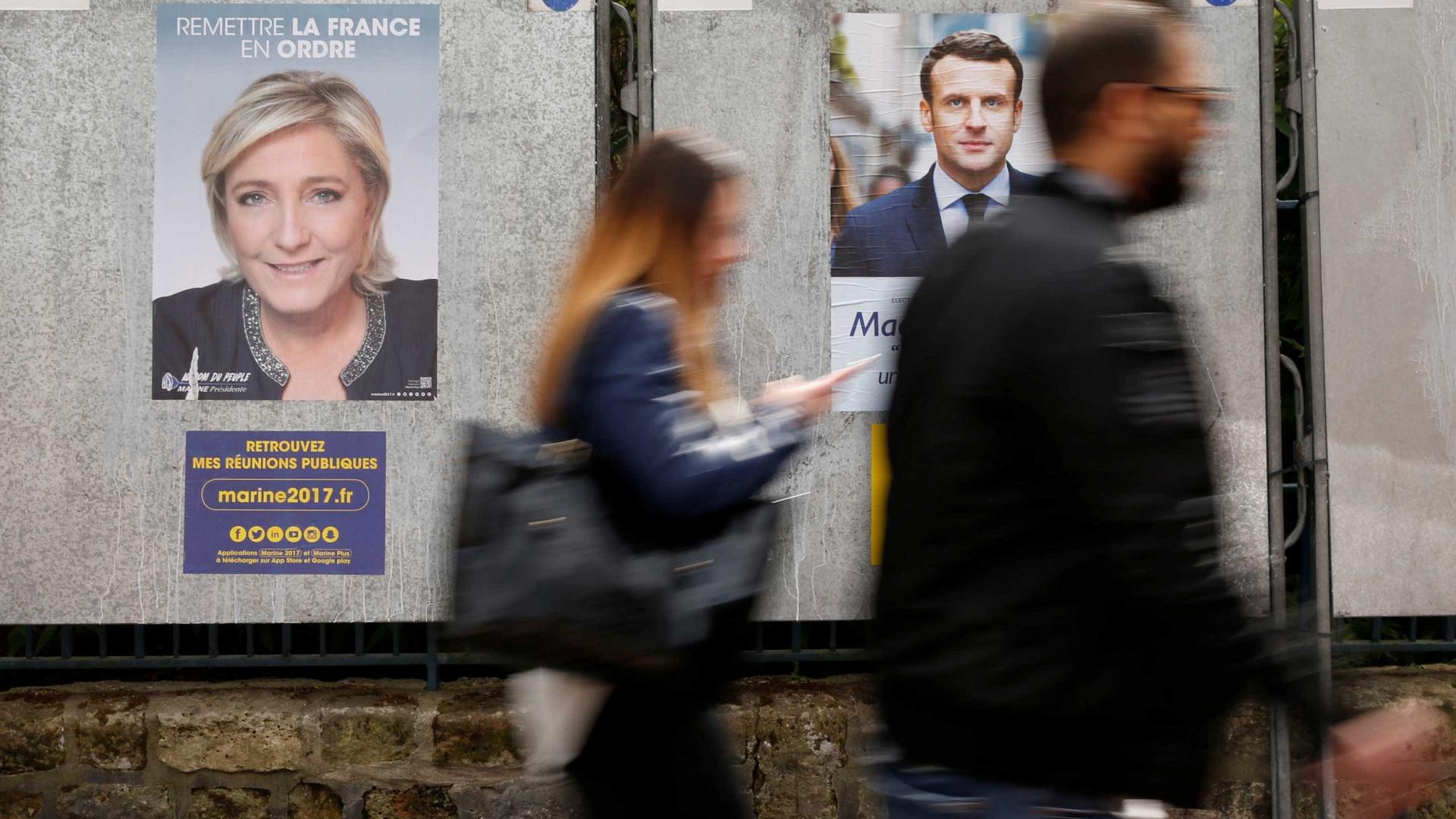 Macron e Le Pen falam sobre chegada ao 2º turno das eleições na França