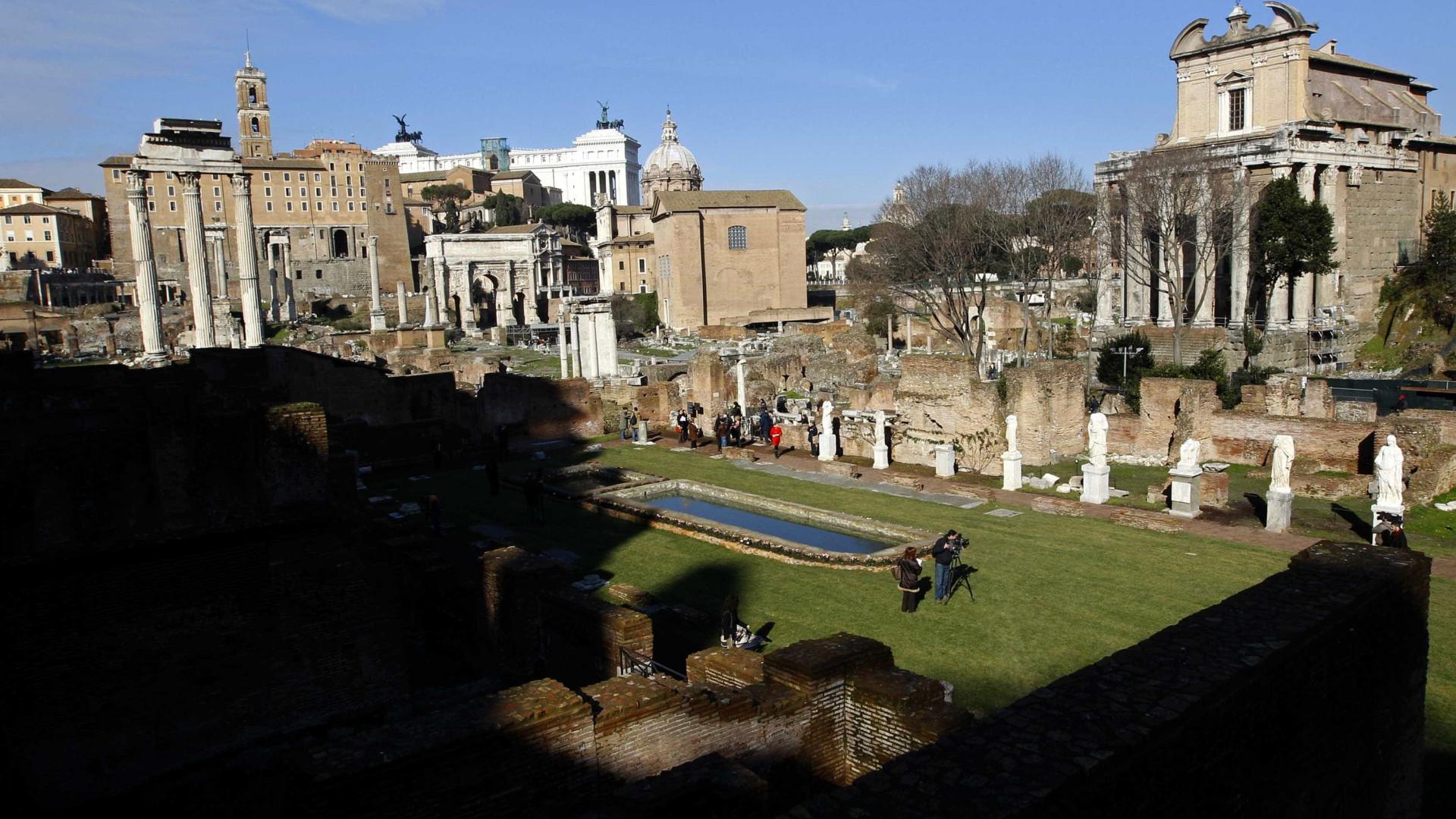 Mostra reúne projetos de renovação do Fórum Romano