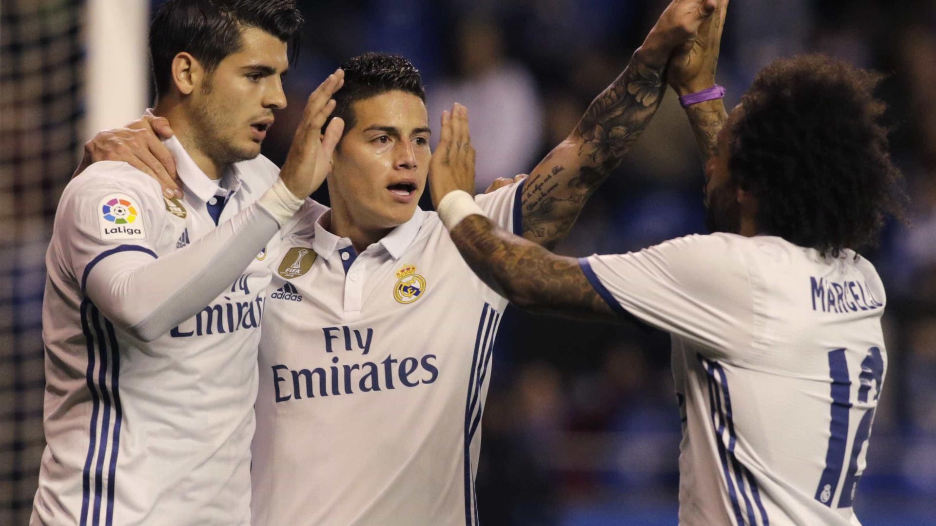 Real Madrid goleia por 6 a 2 e segue junto com Barcelona na ponta