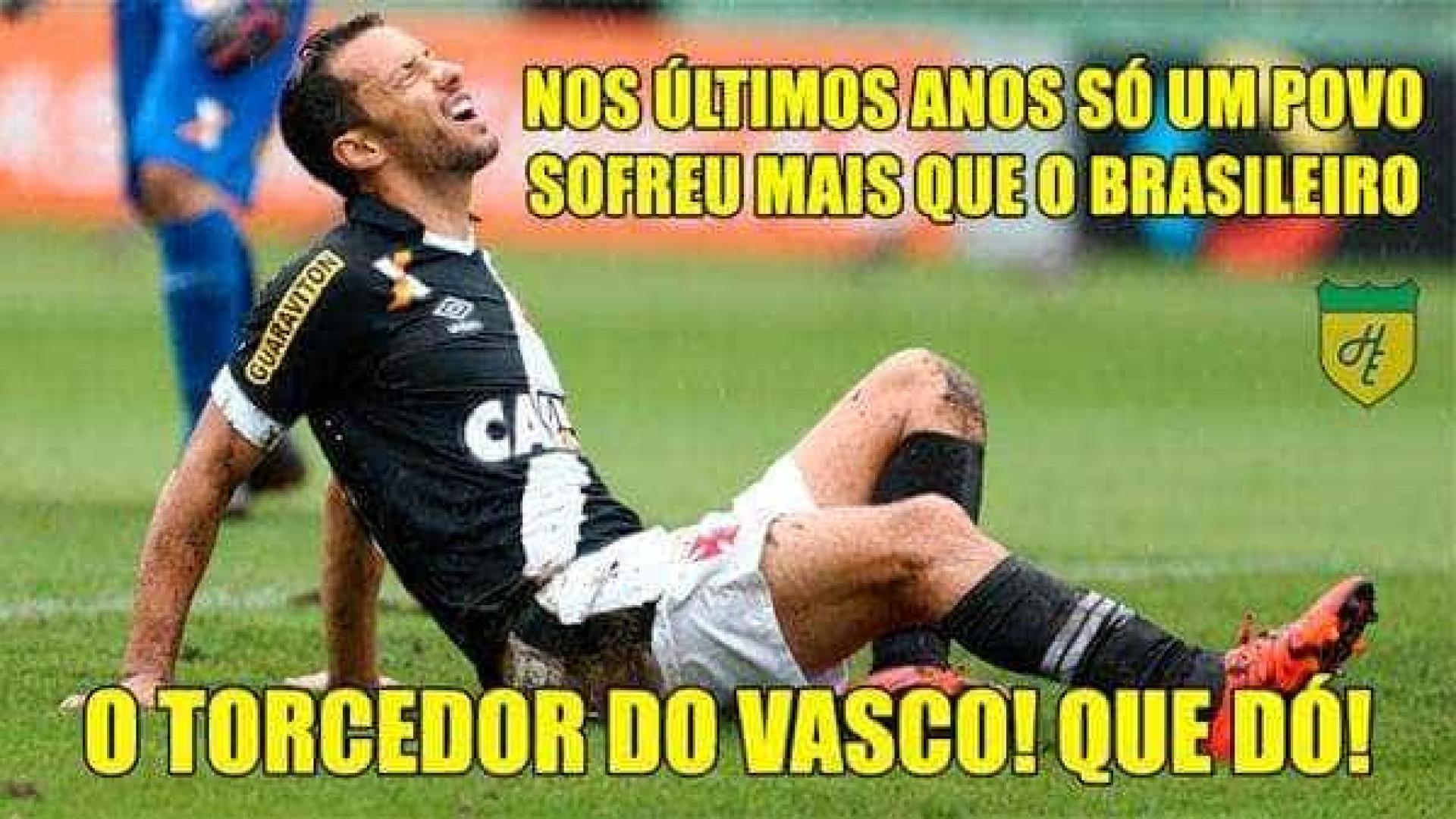 Vasco e São Paulo sofrem com piadas após derrotas; veja os memes