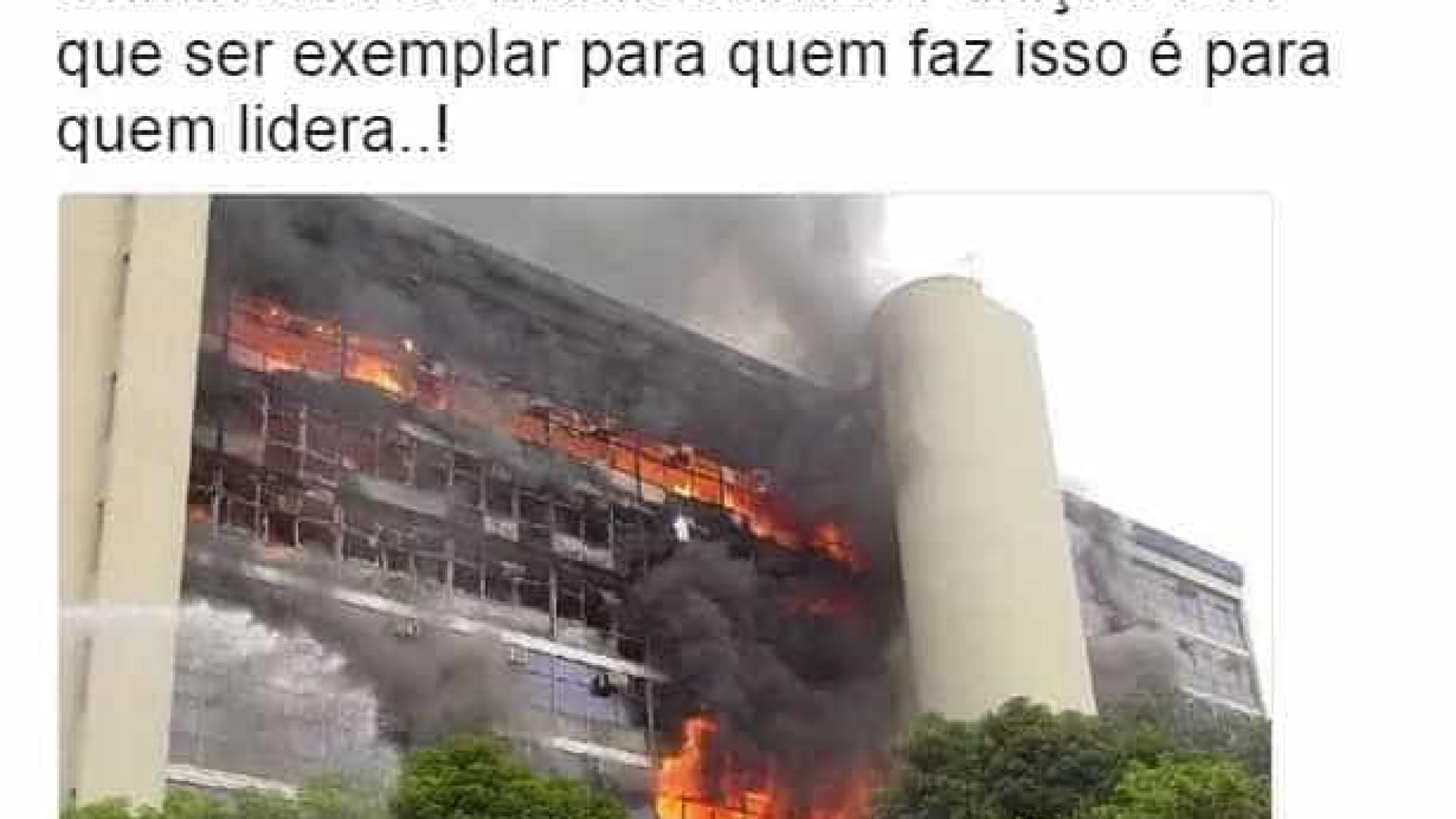 Ministro usa foto errada para criticar protesto em Brasília