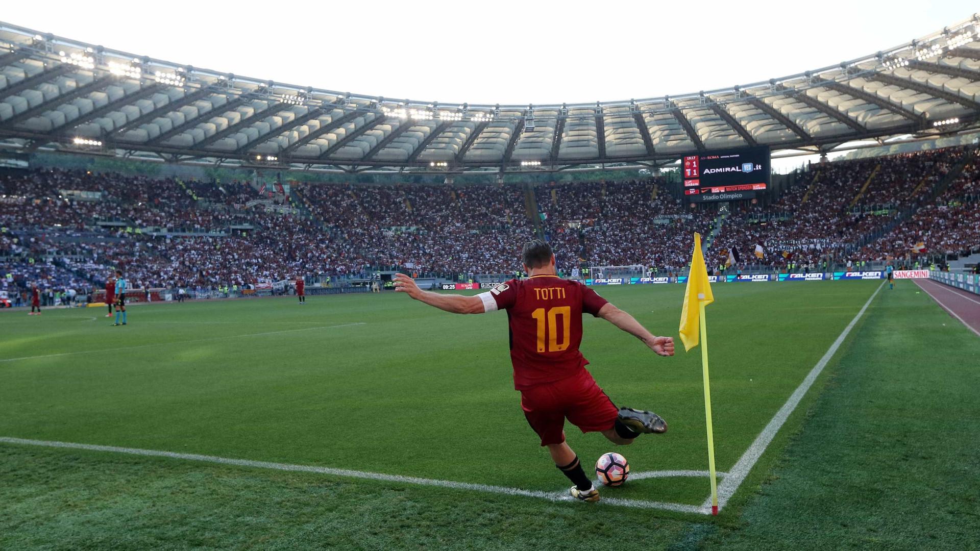 Roma garante o vice do Italiano em despedida emocionante de Totti