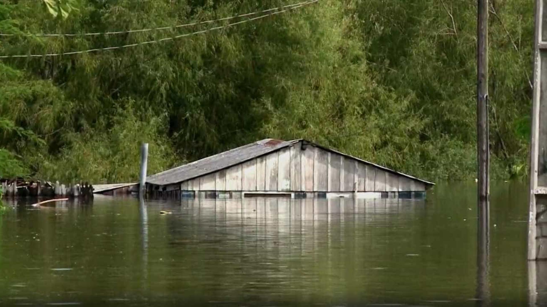 Cheia no Rio Ibirapuitã ainda deixa cerca de 125 famílias desabrigadas