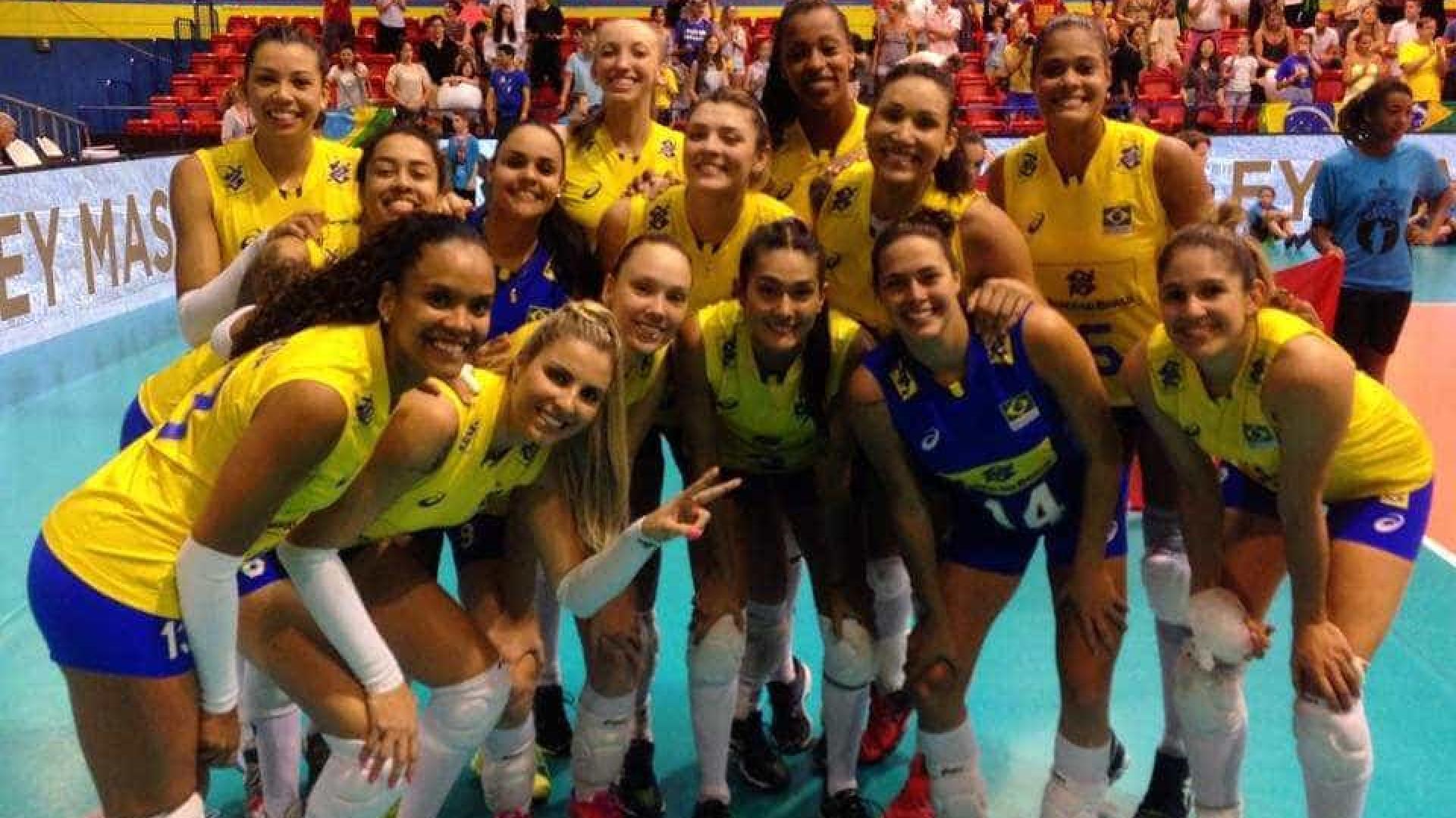 Brasil vence Alemanha e é campeão do Torneio de Montreux de vôlei