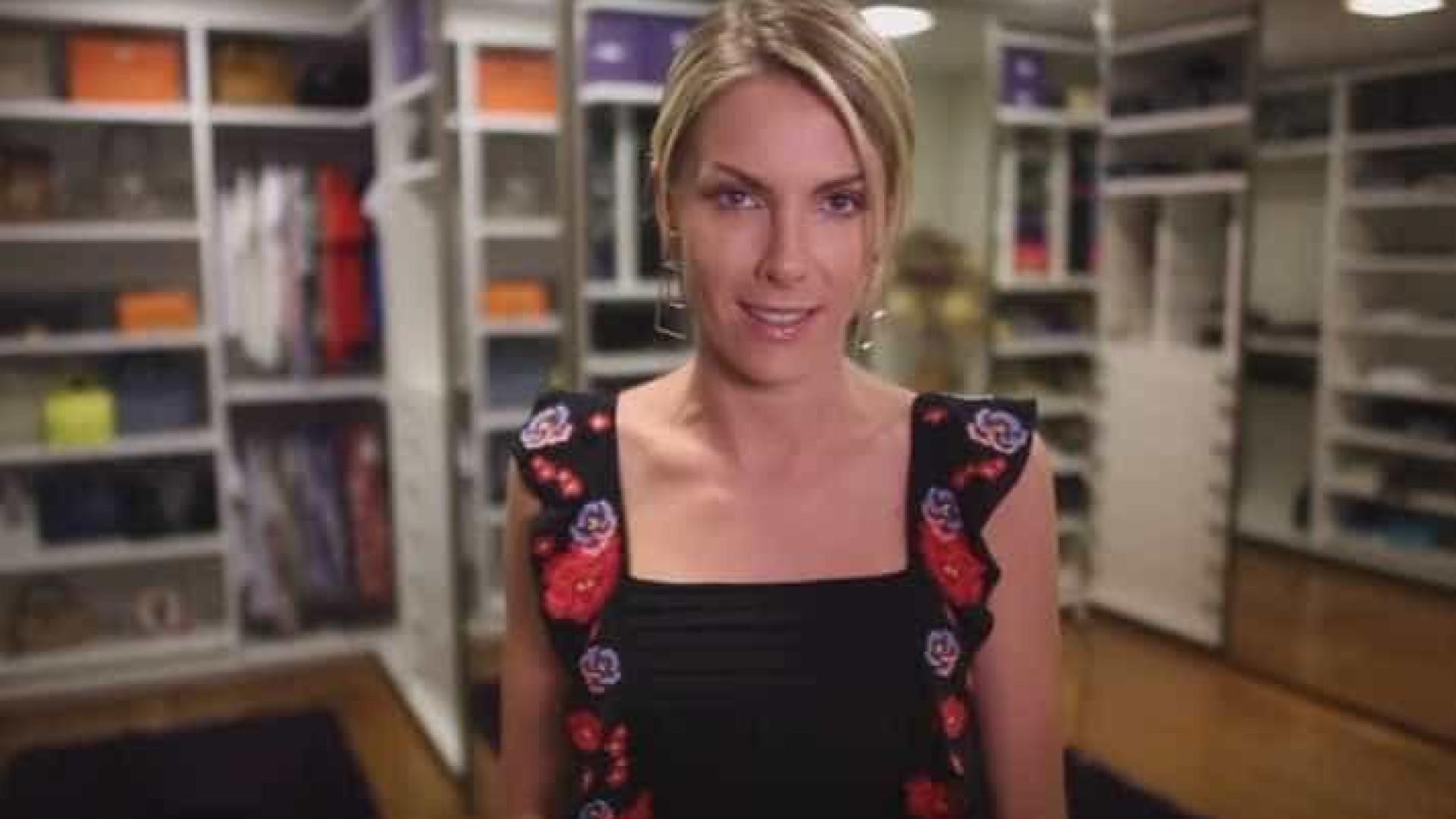 Depois de sala gigante, Ana Hickmann ostenta closet luxuoso na web