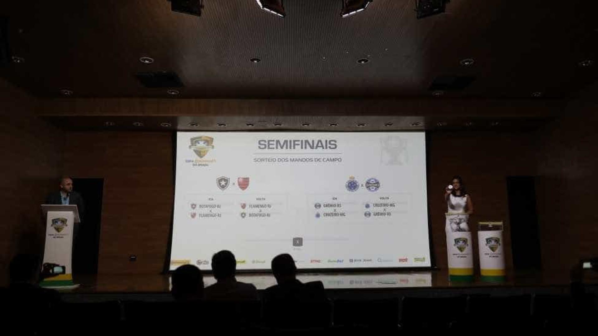 Sorteio define semifinais da Copa do Brasil; Fla decide em casa