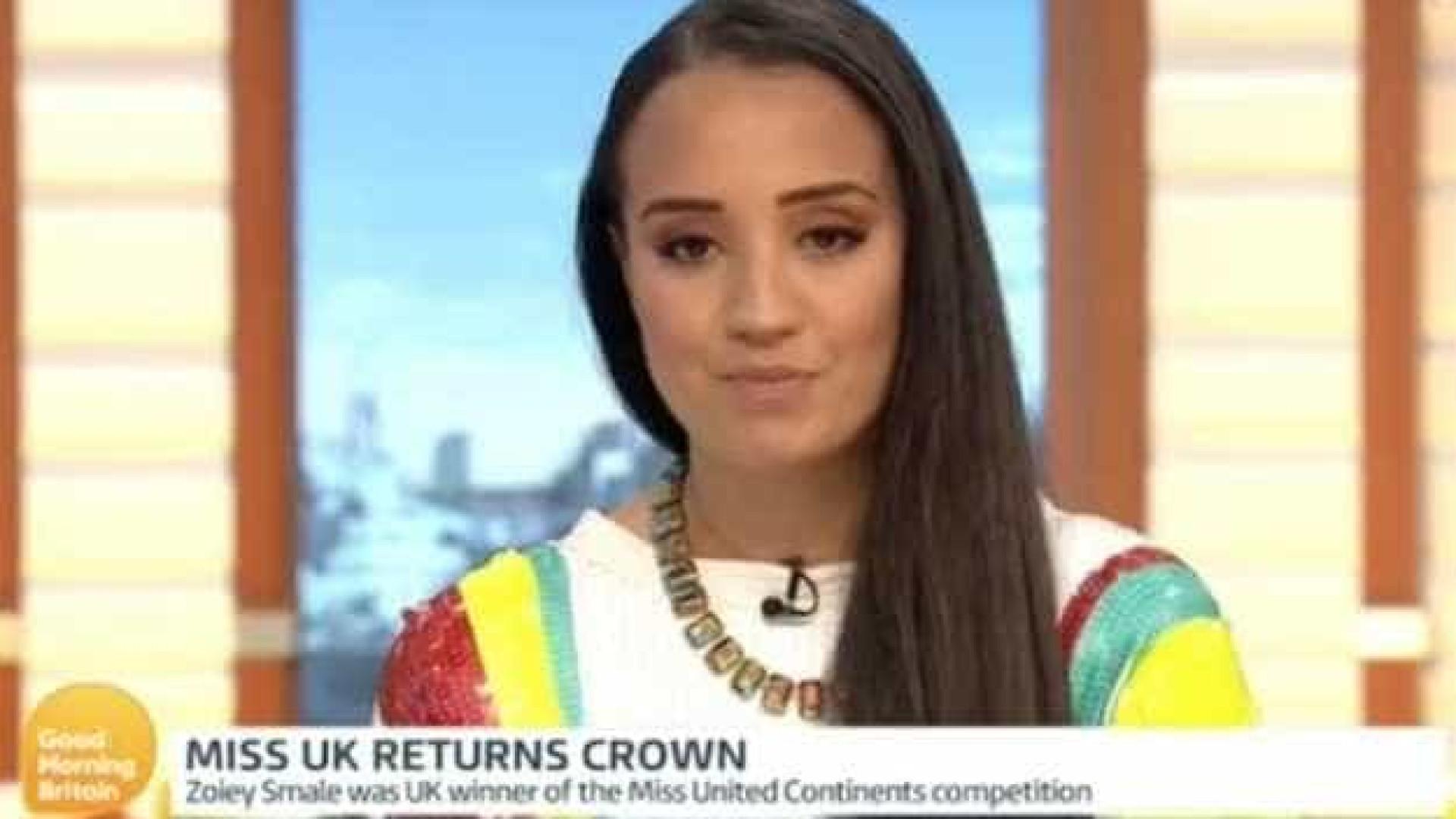 Miss Reino Unido devolve a coroa após pedido para emagrecer
