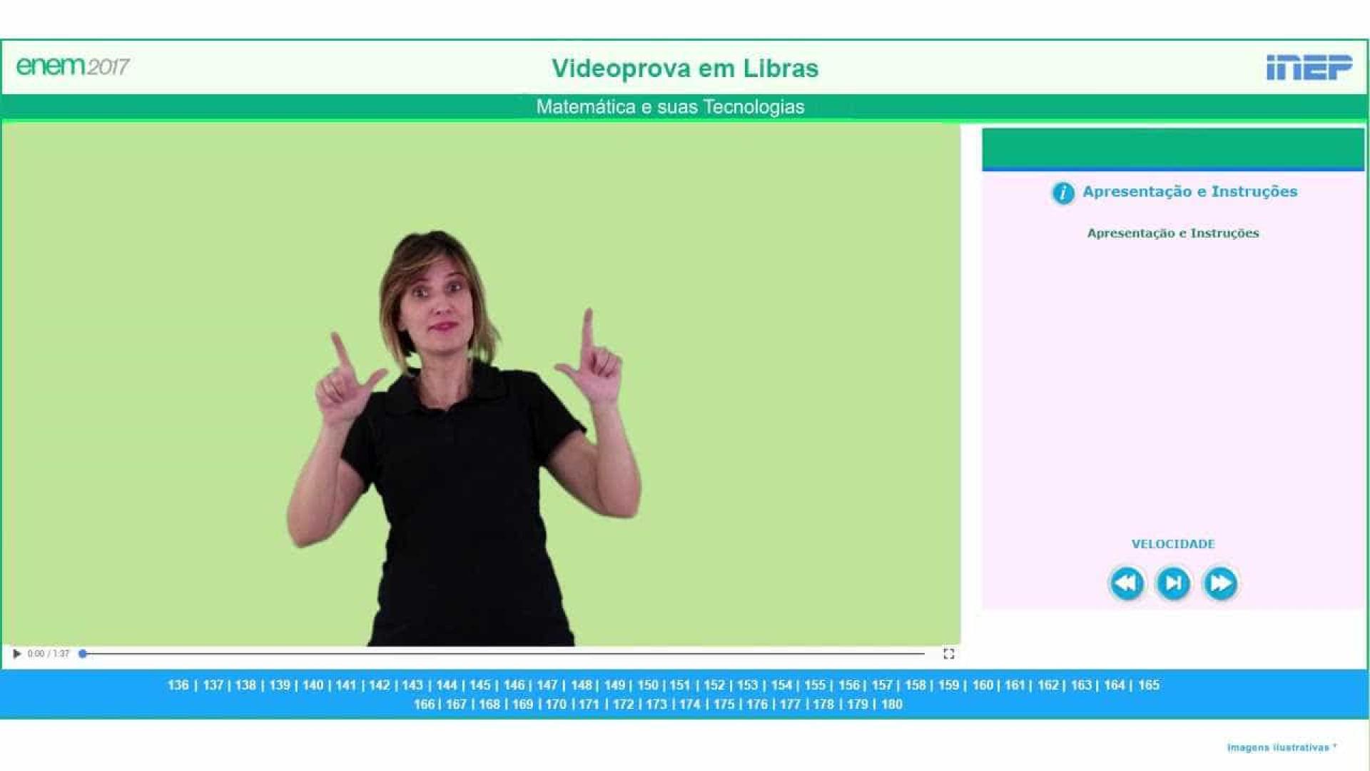 Videoprova em Libras do Enem 2017 está disponível no YouTube