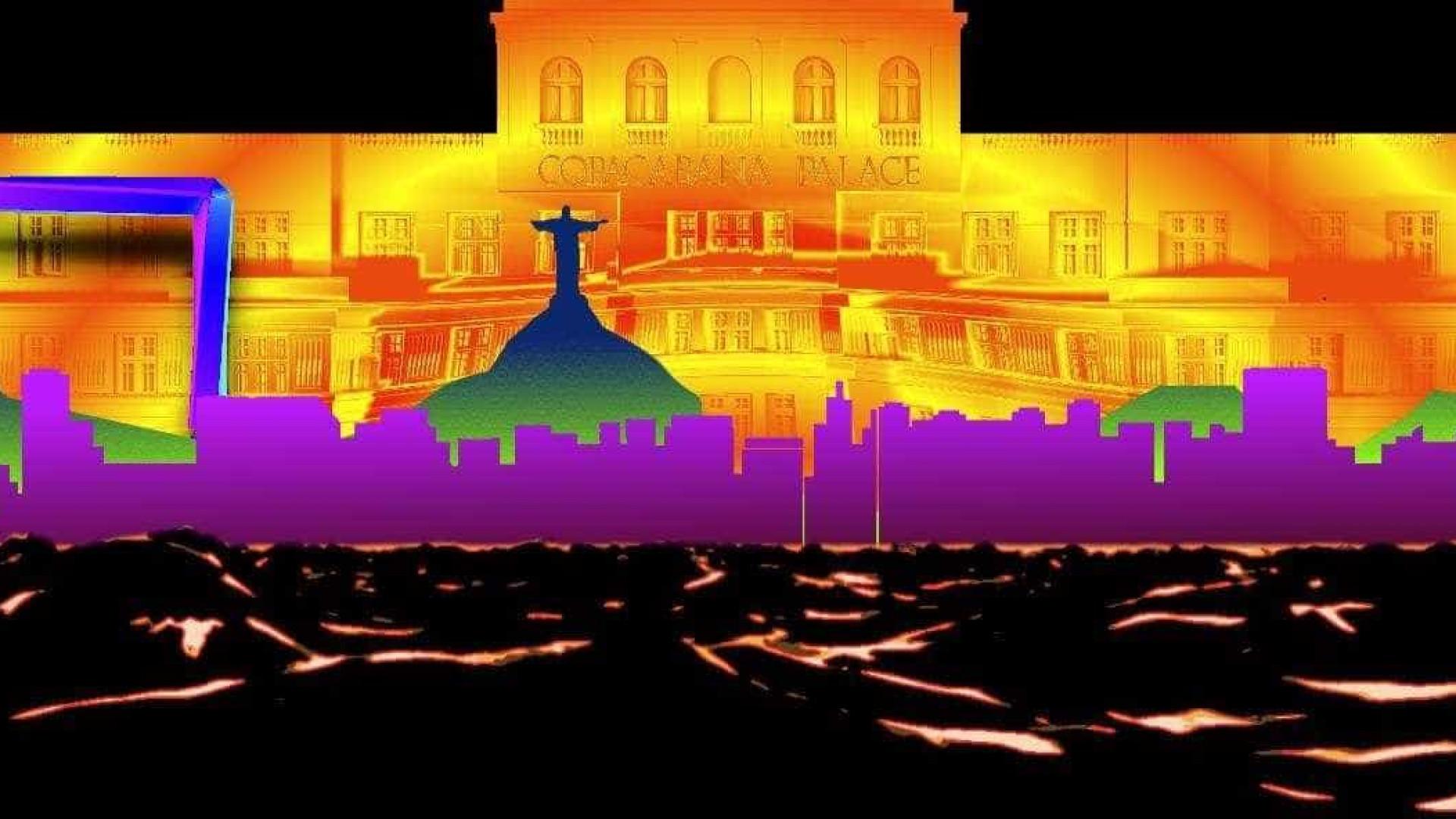 United VJs apresentam 'video mapping' na fachada do Copacabana Palace