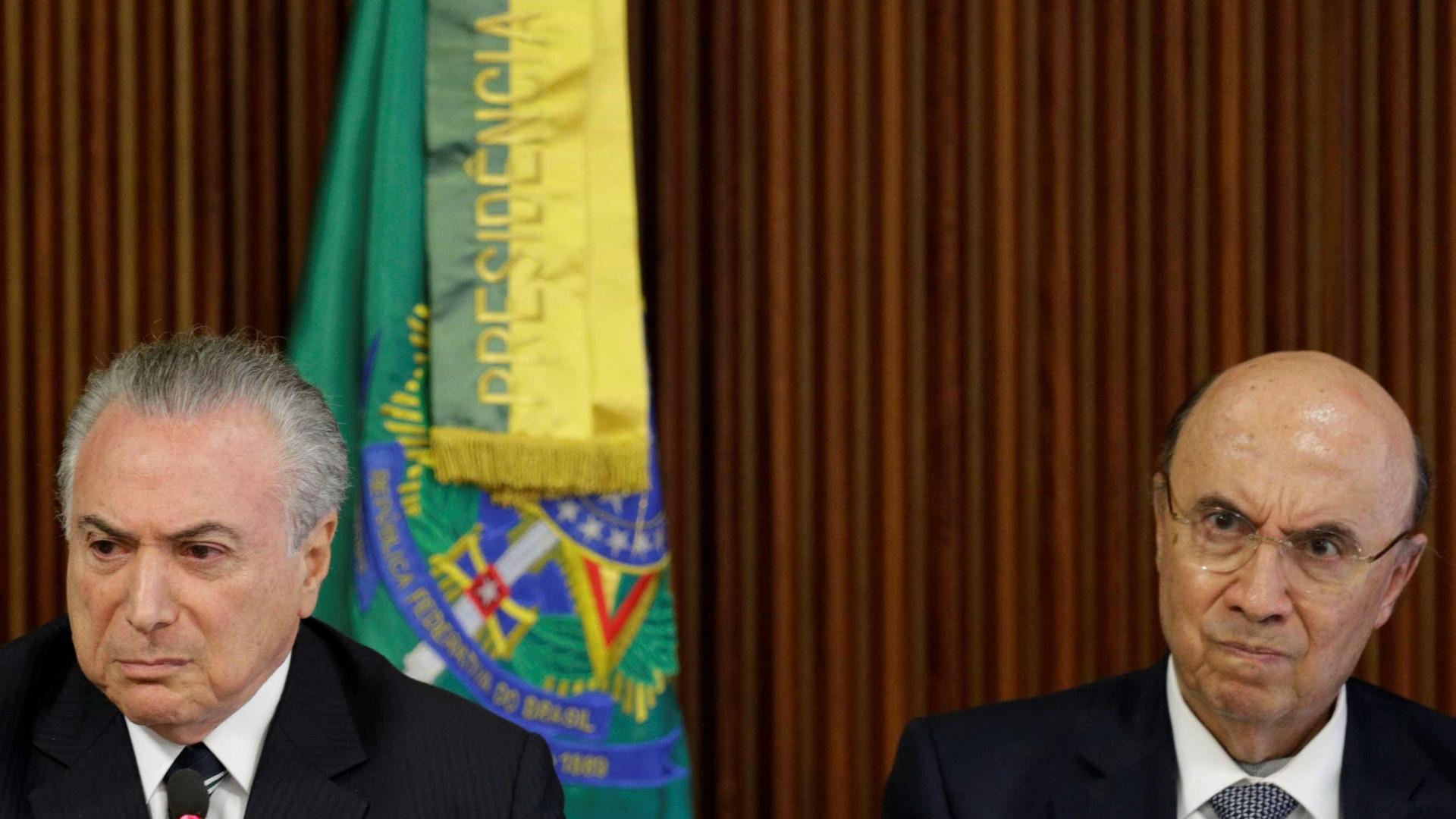Temer se reúne com Meirelles após rebaixamento da nota do Brasil