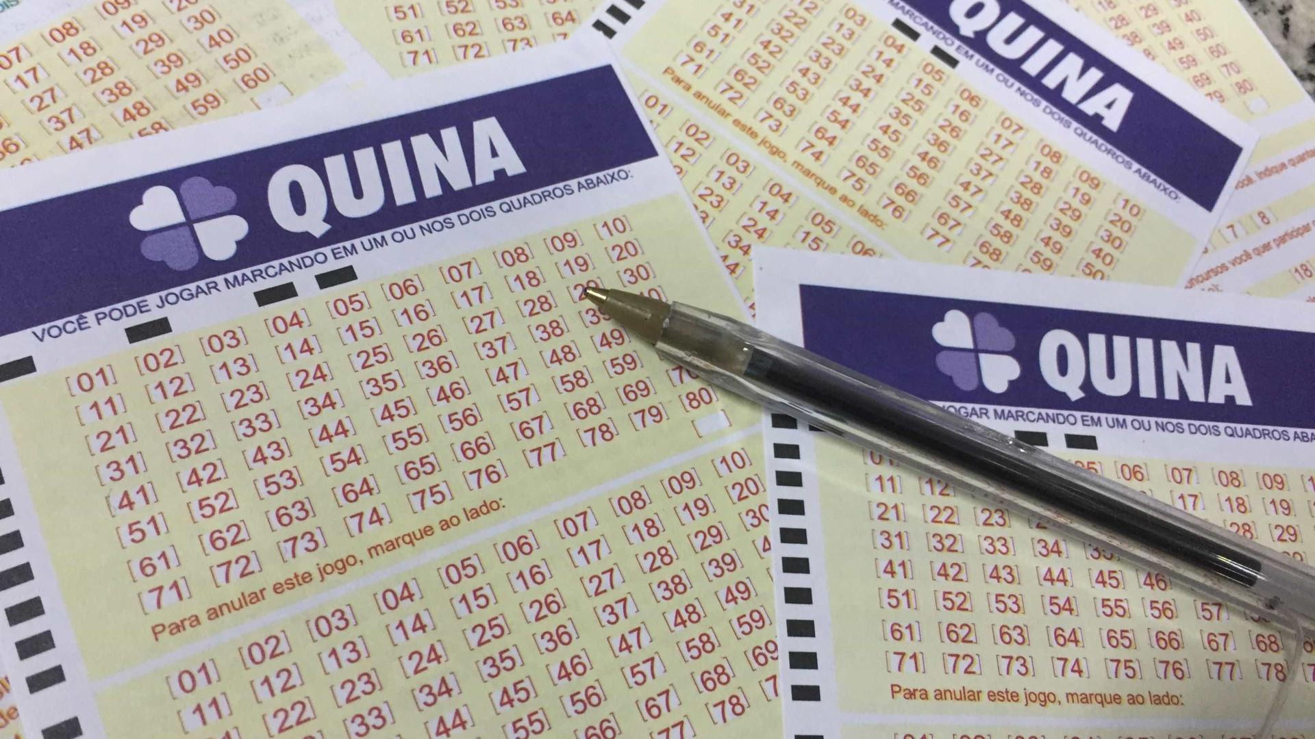 Uma aposta acerta as cinco dezenas da Quina e leva R$ 2 milhões