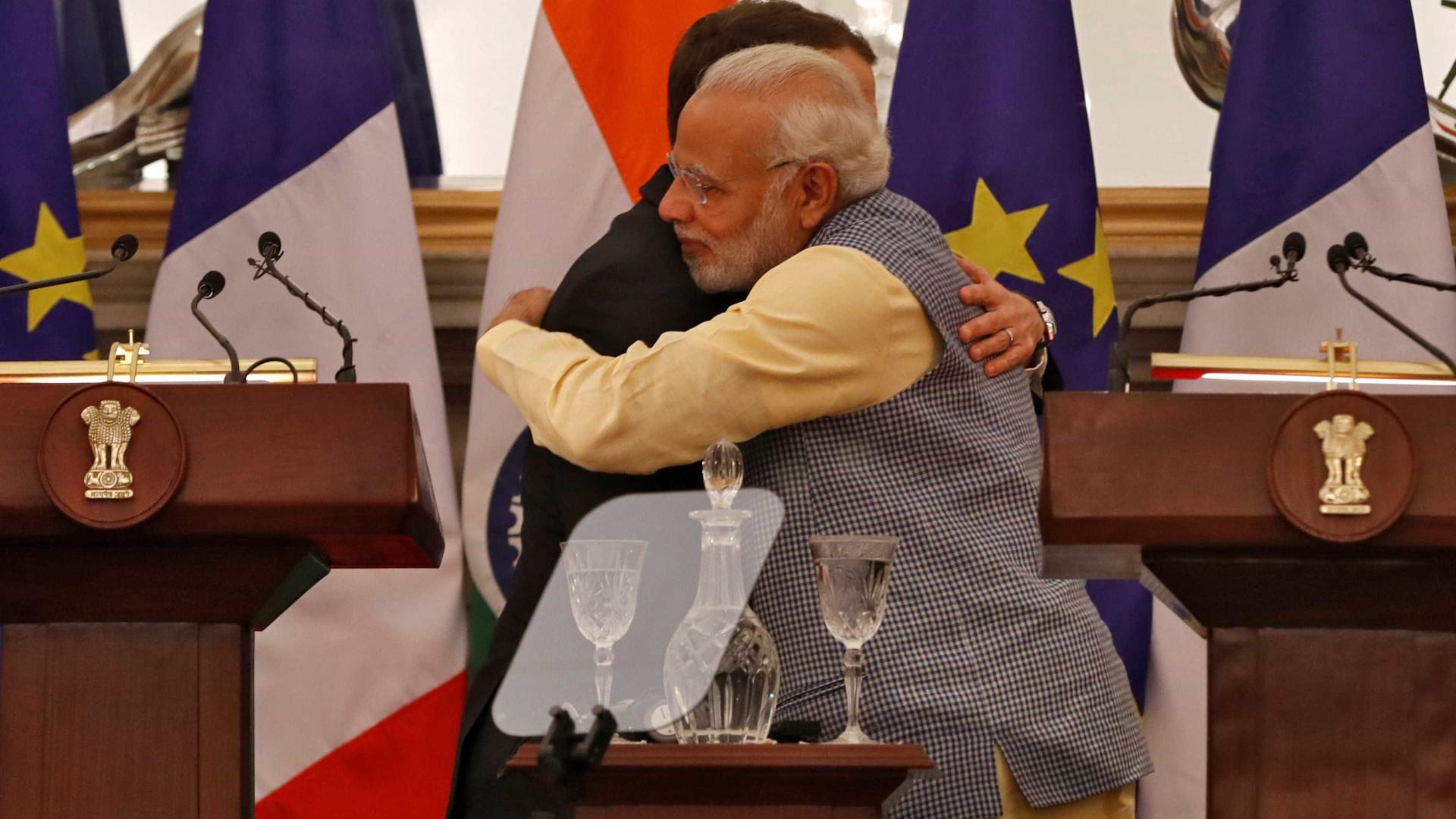 França e Índia acertam detalhes para conter China