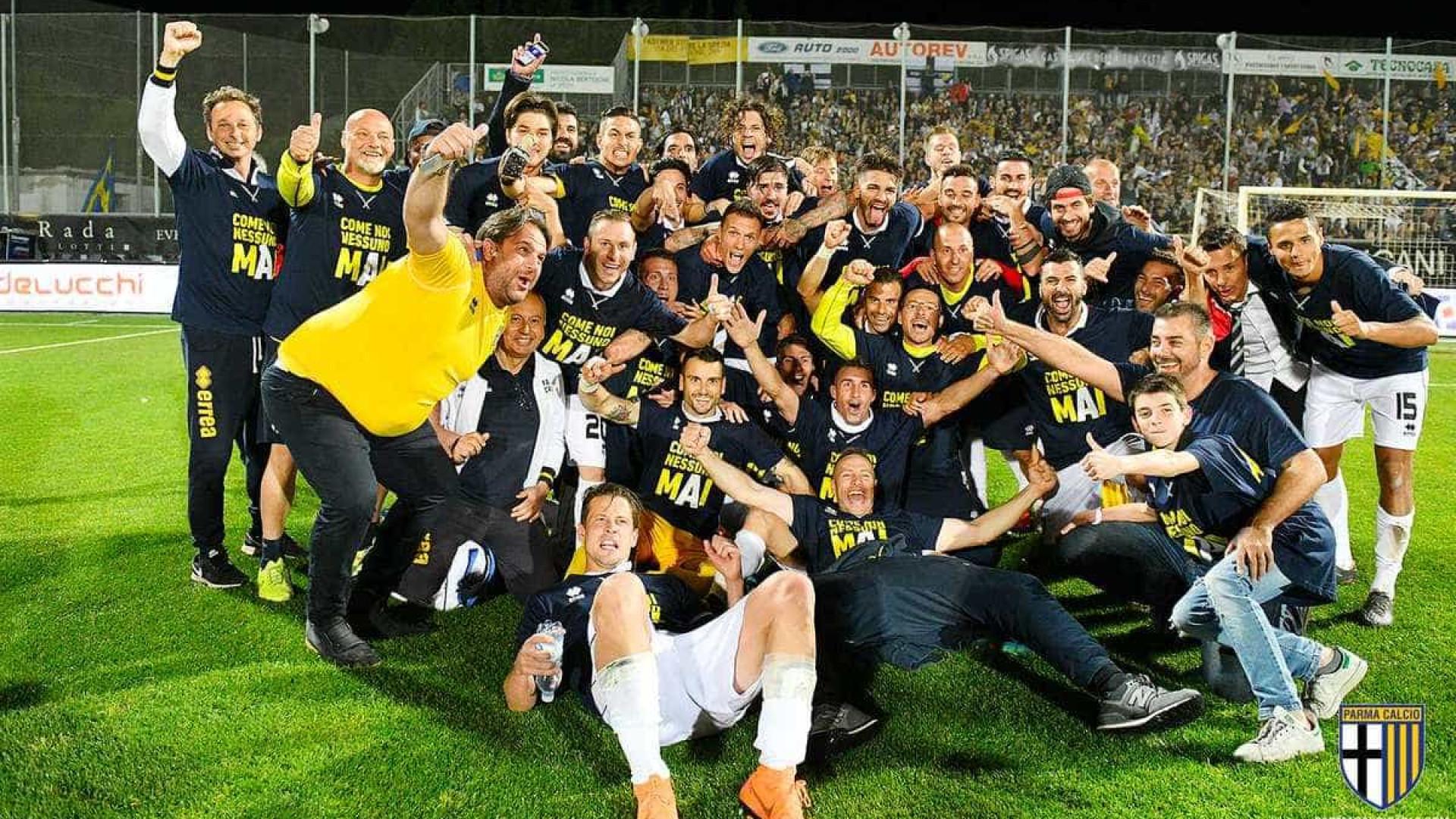 Parma garante terceiro acesso seguido e volta à elite italiana