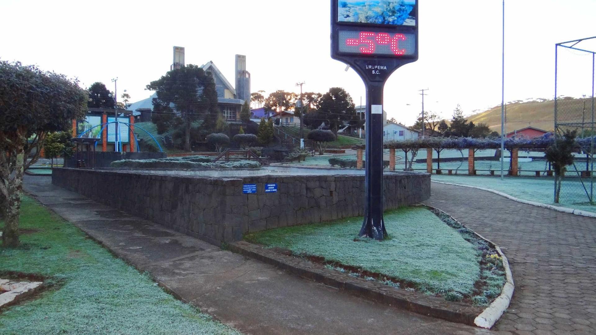 Frente fria derruba temperaturas em boa parte do país