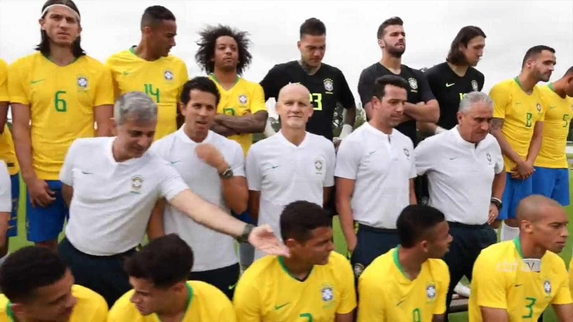 Vídeo mostra making of da foto oficial da Seleção para a Copa do Mundo