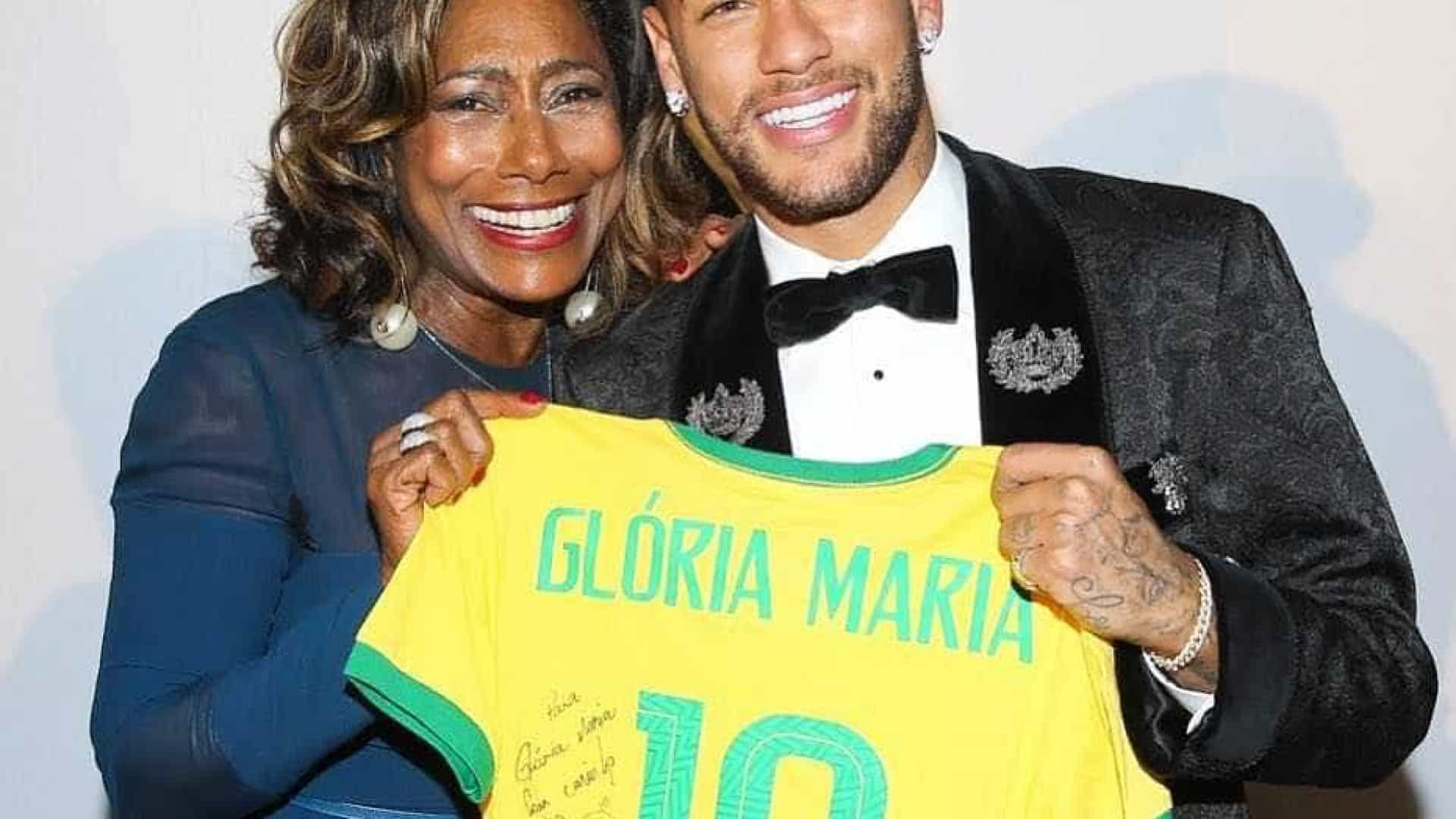 Em leilão de Neymar, Glória Maria compra encontro com Silvio Santos