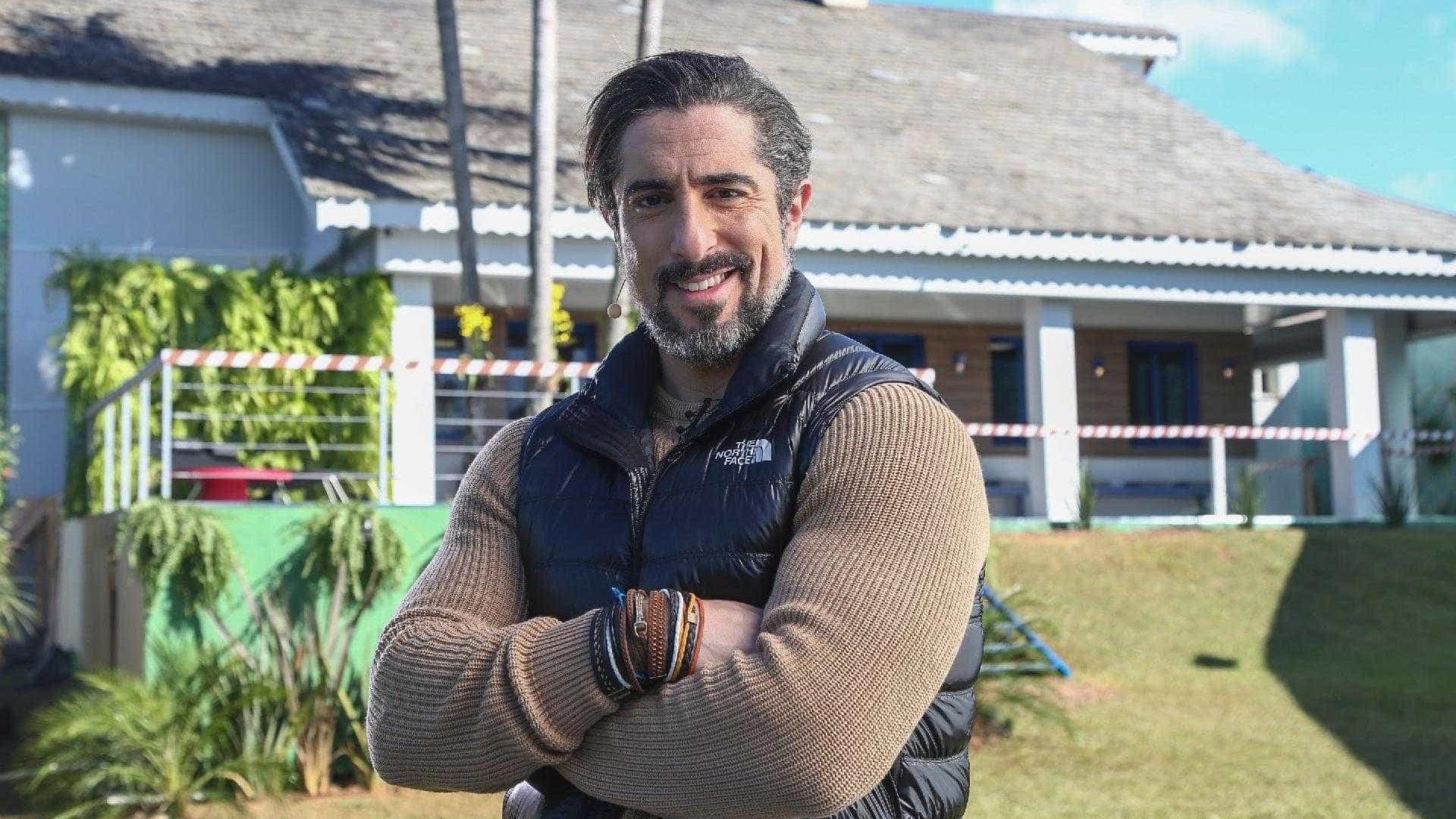 Marcos Mion faz piada com Roberto Justus em divulgação de 'A Fazenda'