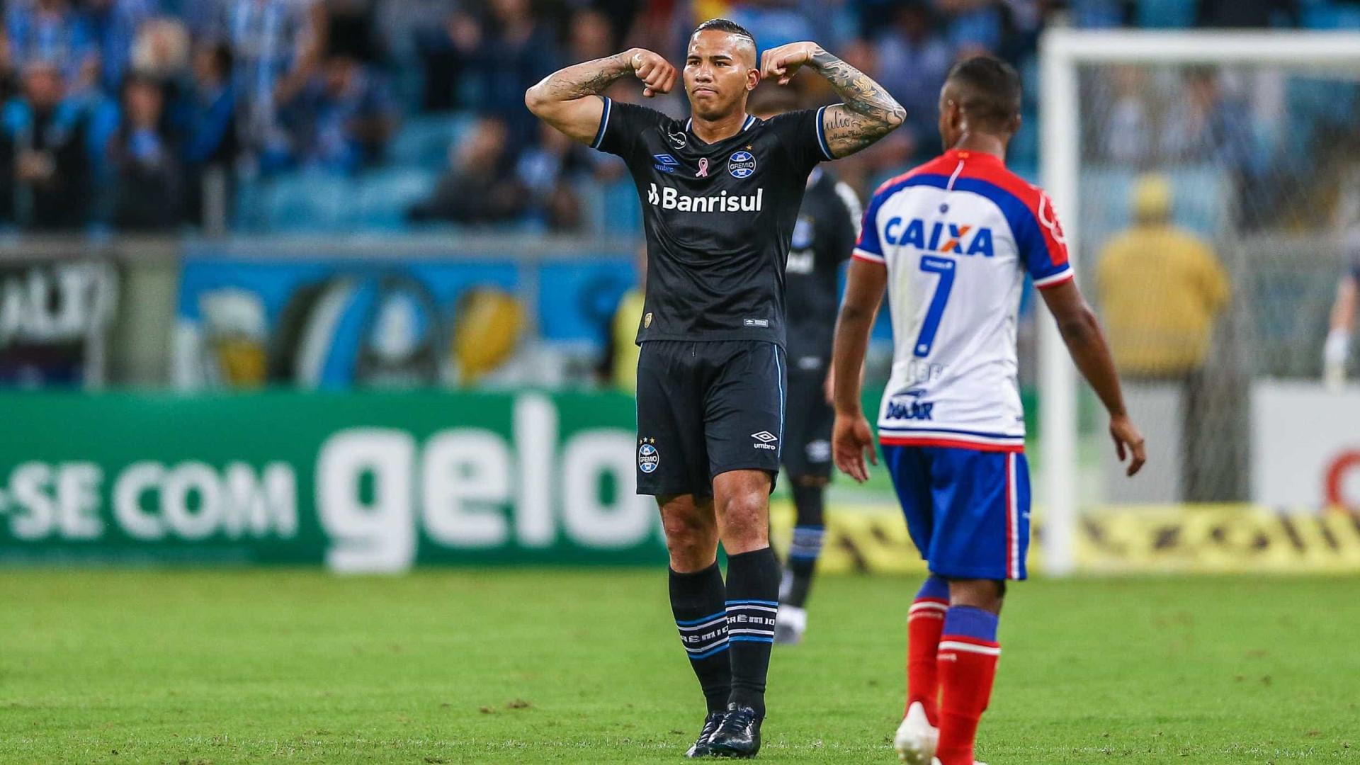 Grêmio empata com Bahia no fim e perde chance de ser vice-líder
