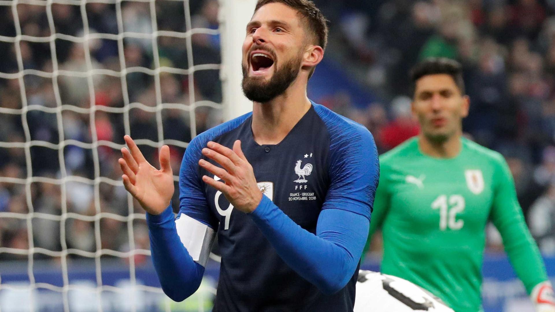 Eliminada na Liga das Nações, França vence Uruguai em amistoso