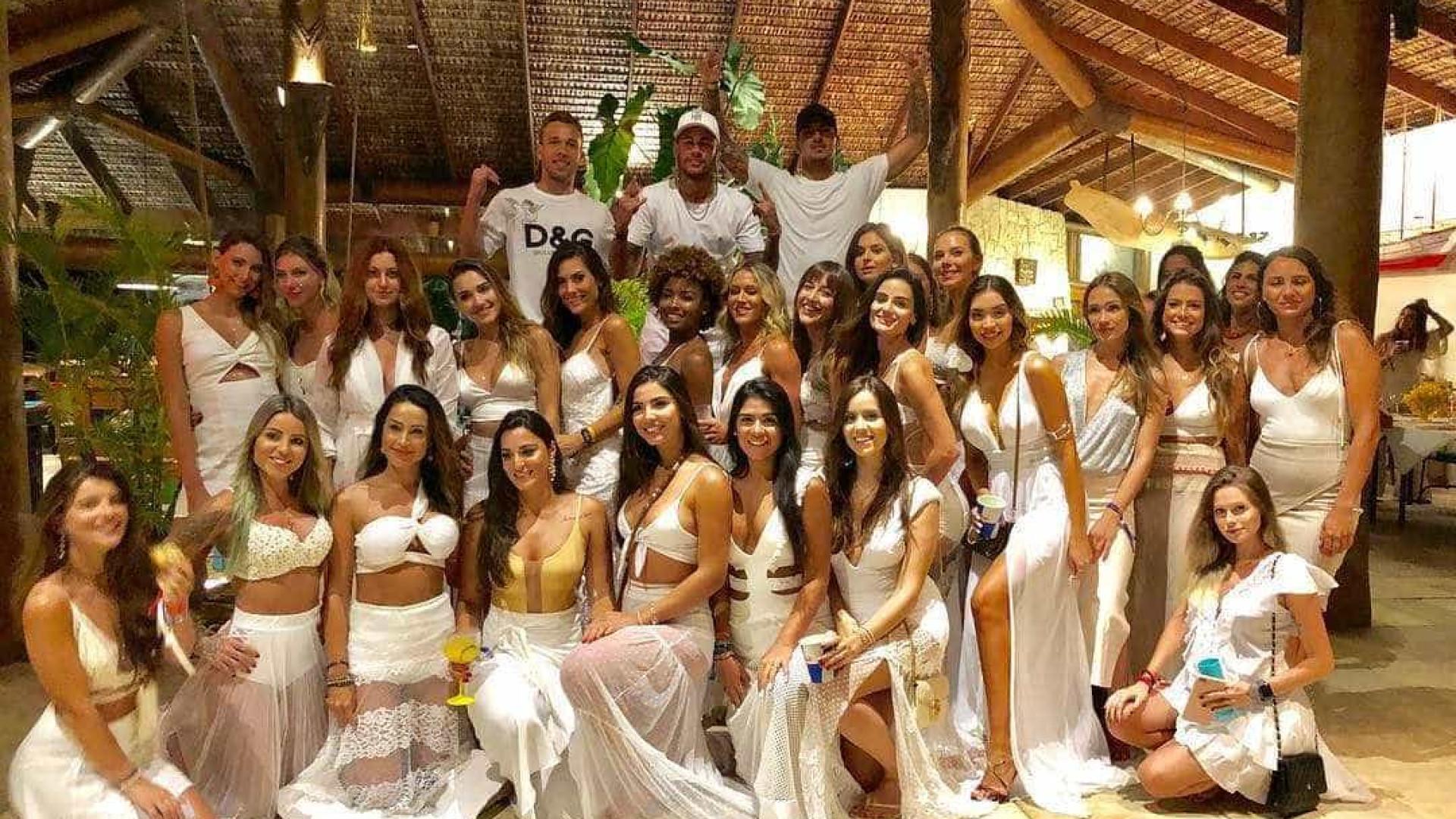 Neymar, Medina e Arthur Melo passam Ano Novo ao lado de 26 mulheres