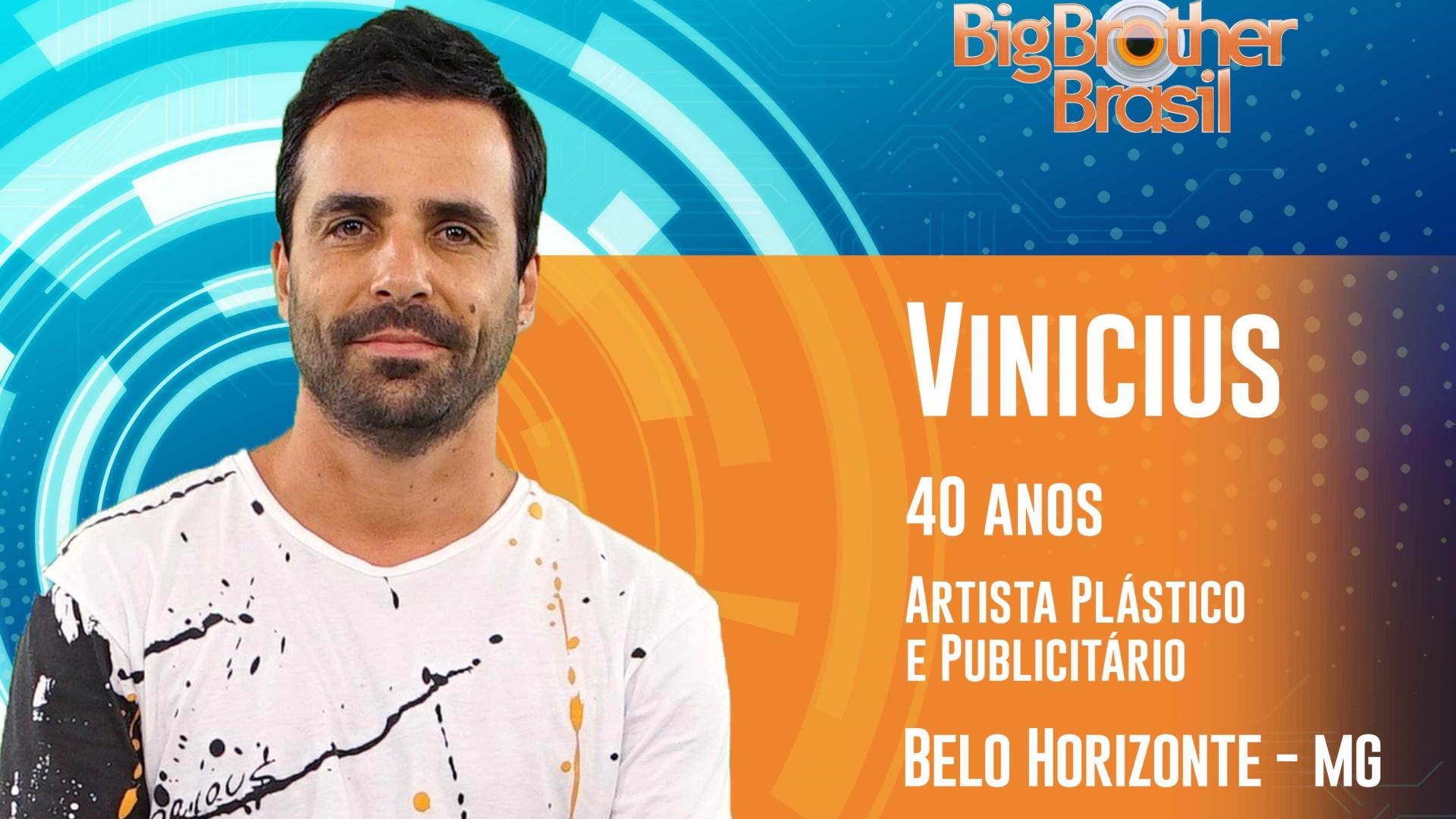 BBB: Hiperativo, artista plástico Vinicius quer autoconhecimento