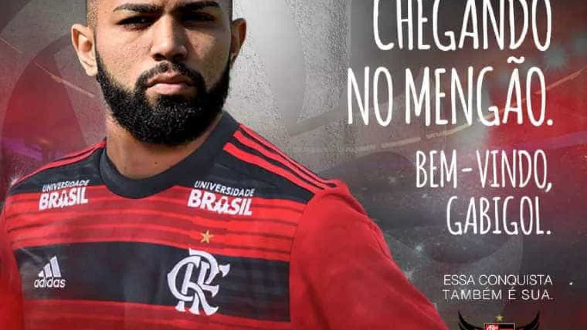 Gabigol é anunciado e cita ídolos do Flamengo