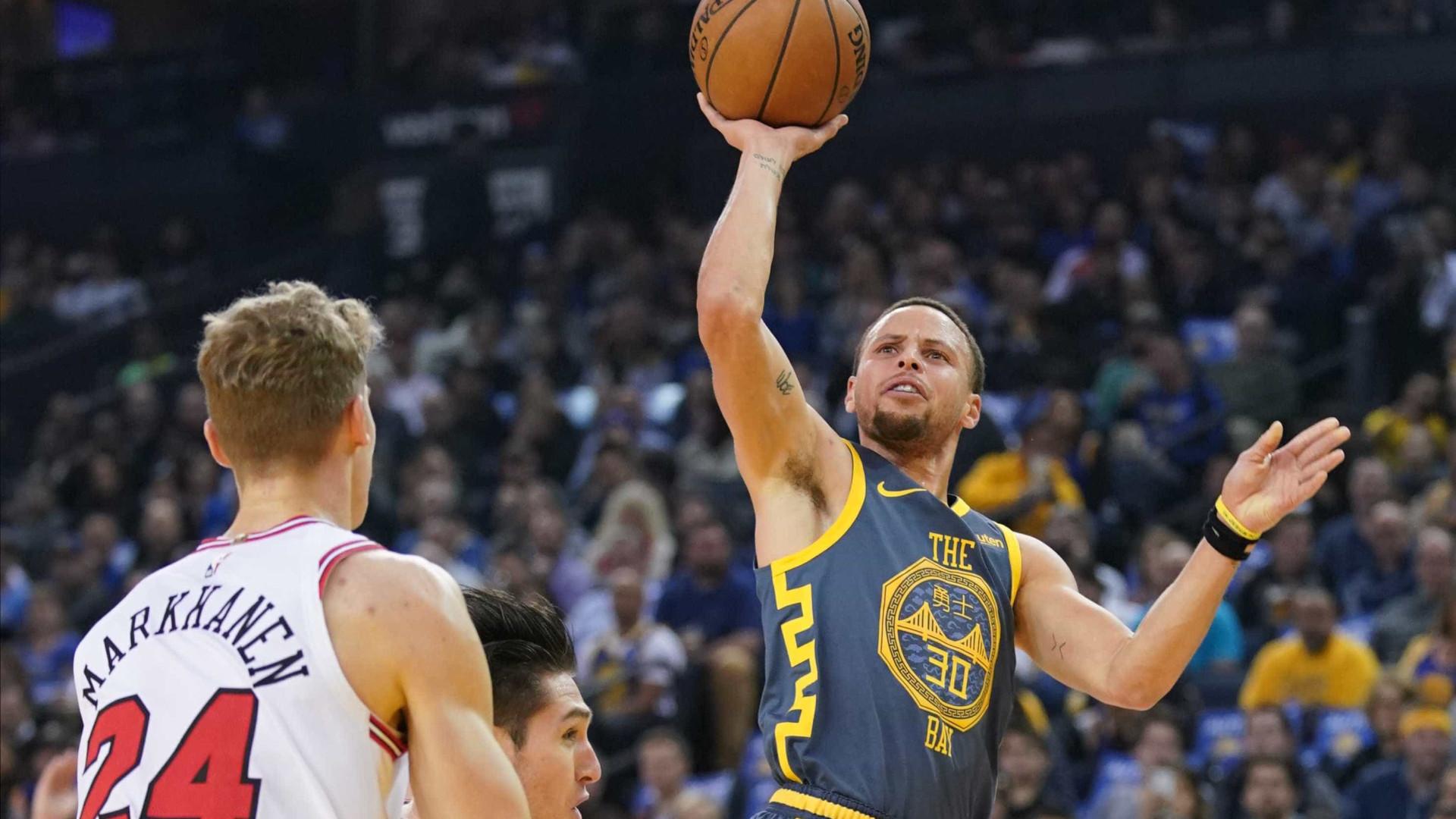 Stephen Curry se torna o terceiro com mais bolas de 3 da NBA