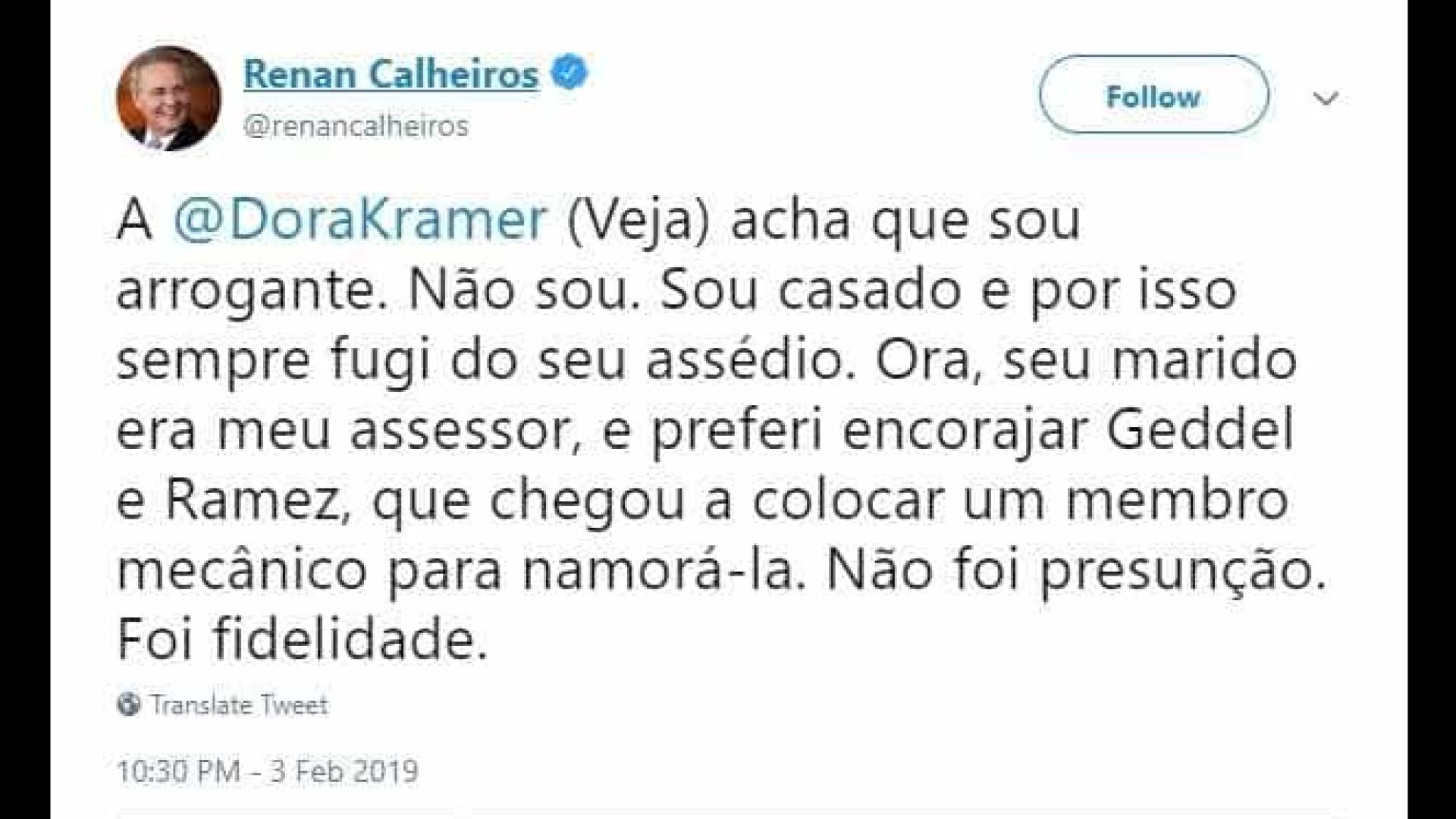 Renan acusa jornalista de assédio e expõe intimidades nas redes sociais