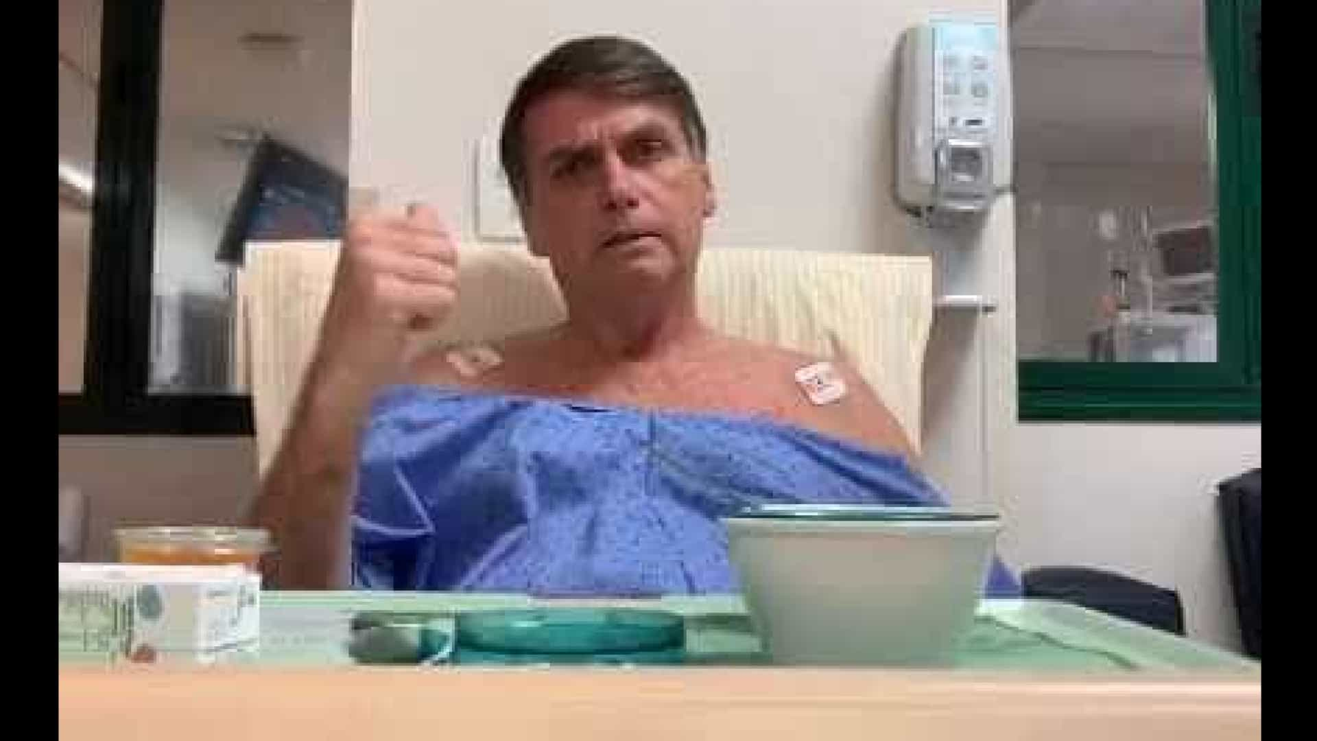 Médicos reduzem dieta endovenosa de Bolsonaro
