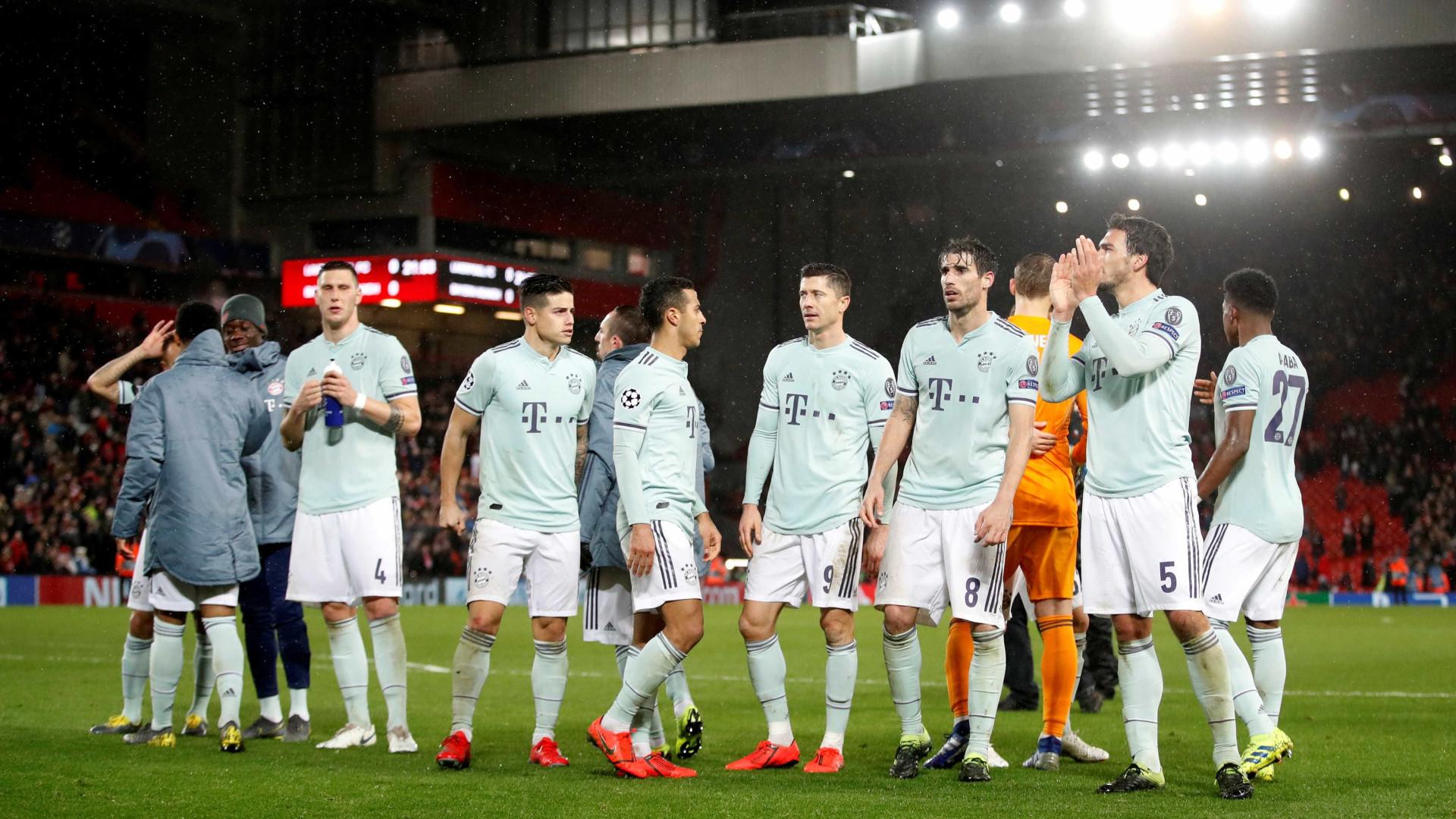 Bayern empata com o Liverpool e jogará por vitória simples na Alemanha