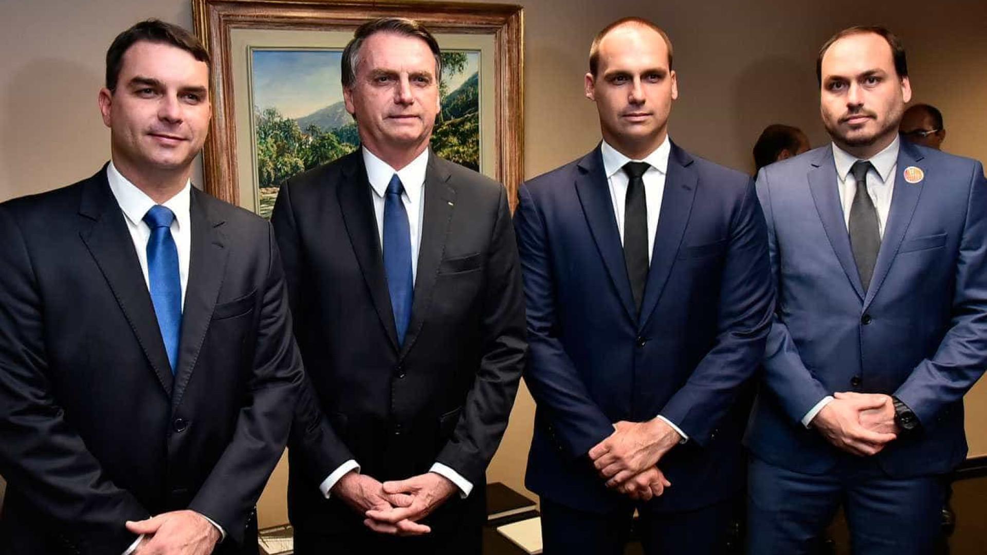 Aliado vê com maus olhos atuação de filhos de Bolsonaro